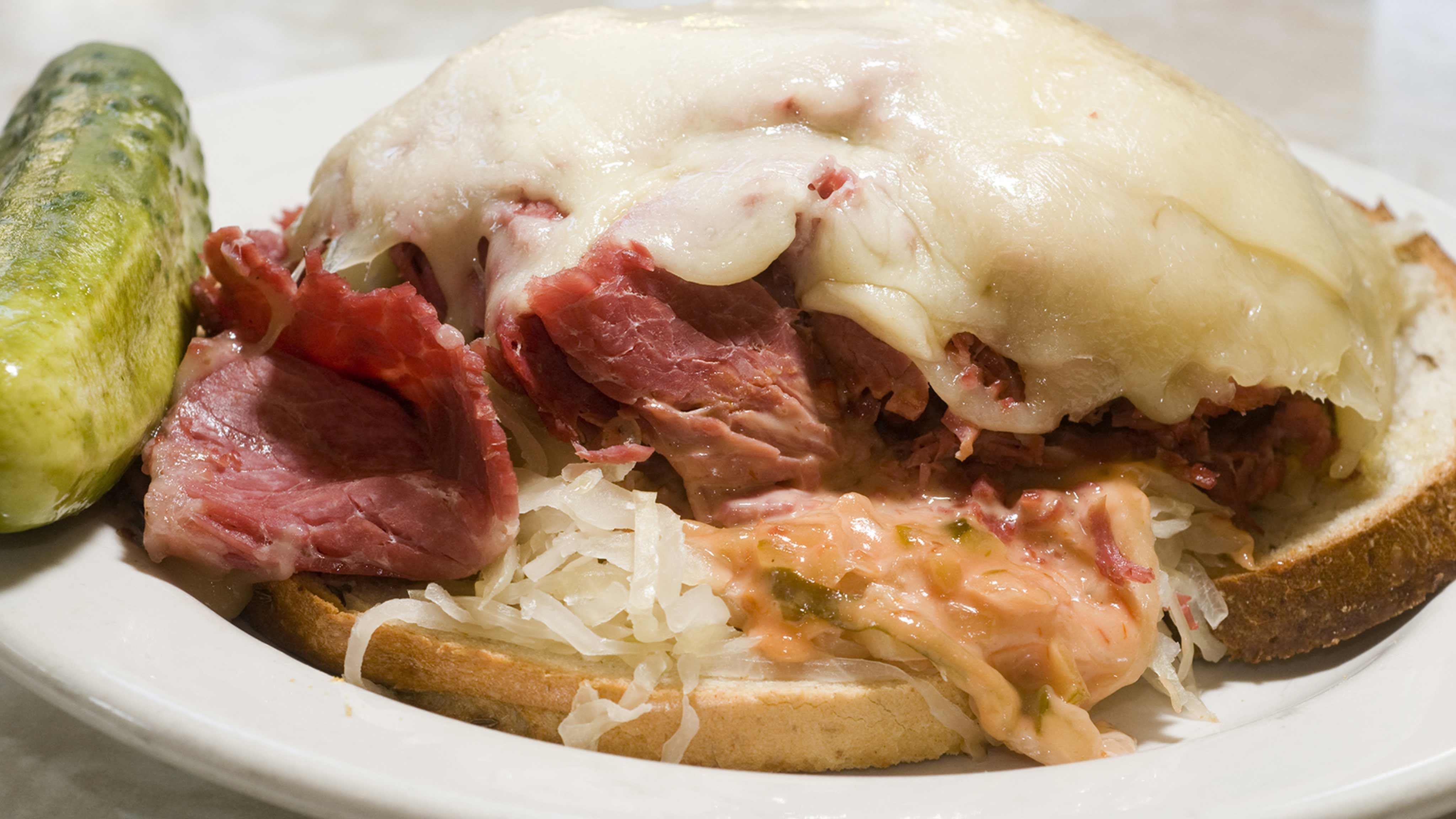 Image for Recipe Open-Face Reuben
