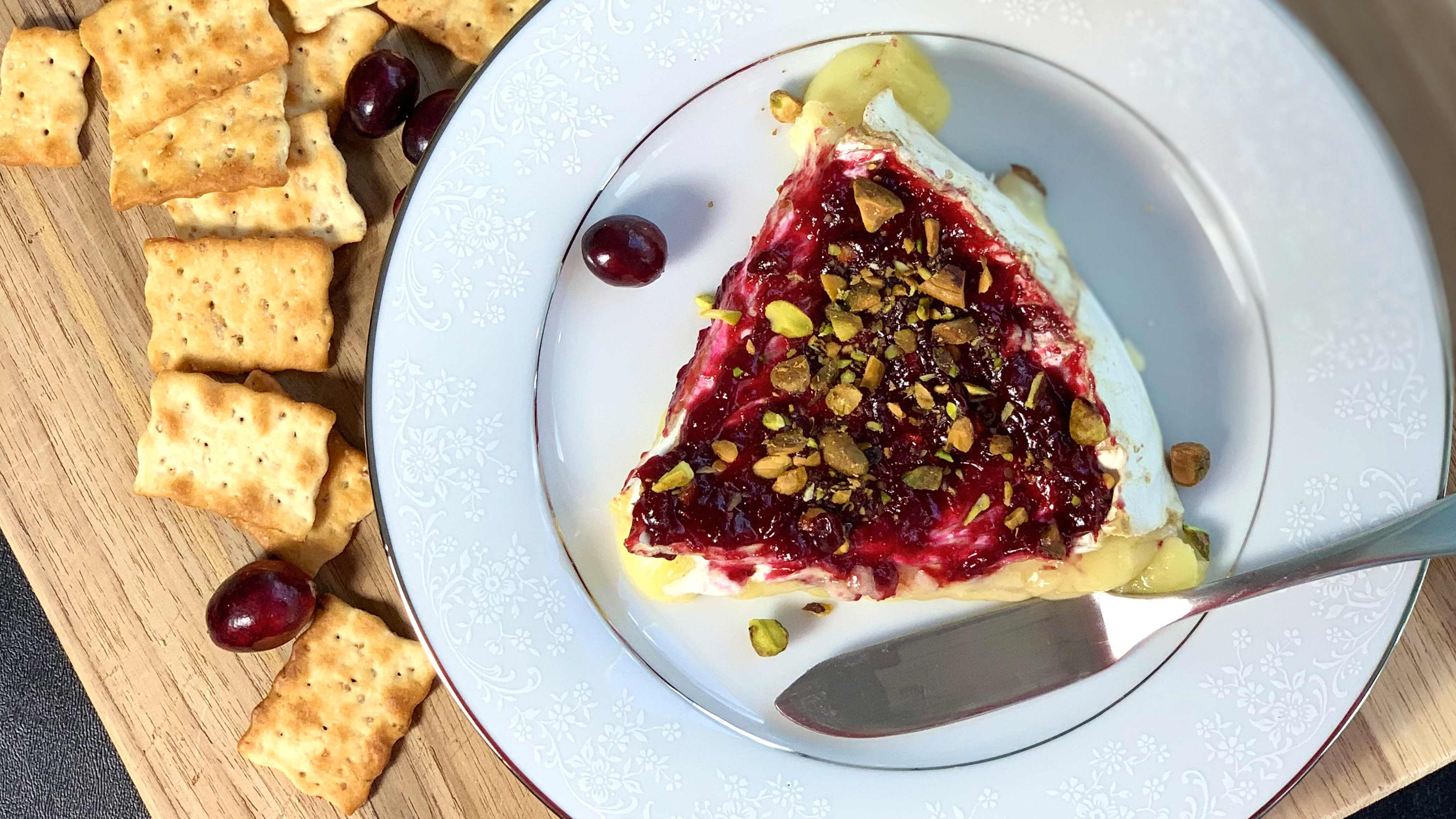 Image for Recipe Brie with Cranberry Butter and Pistachios