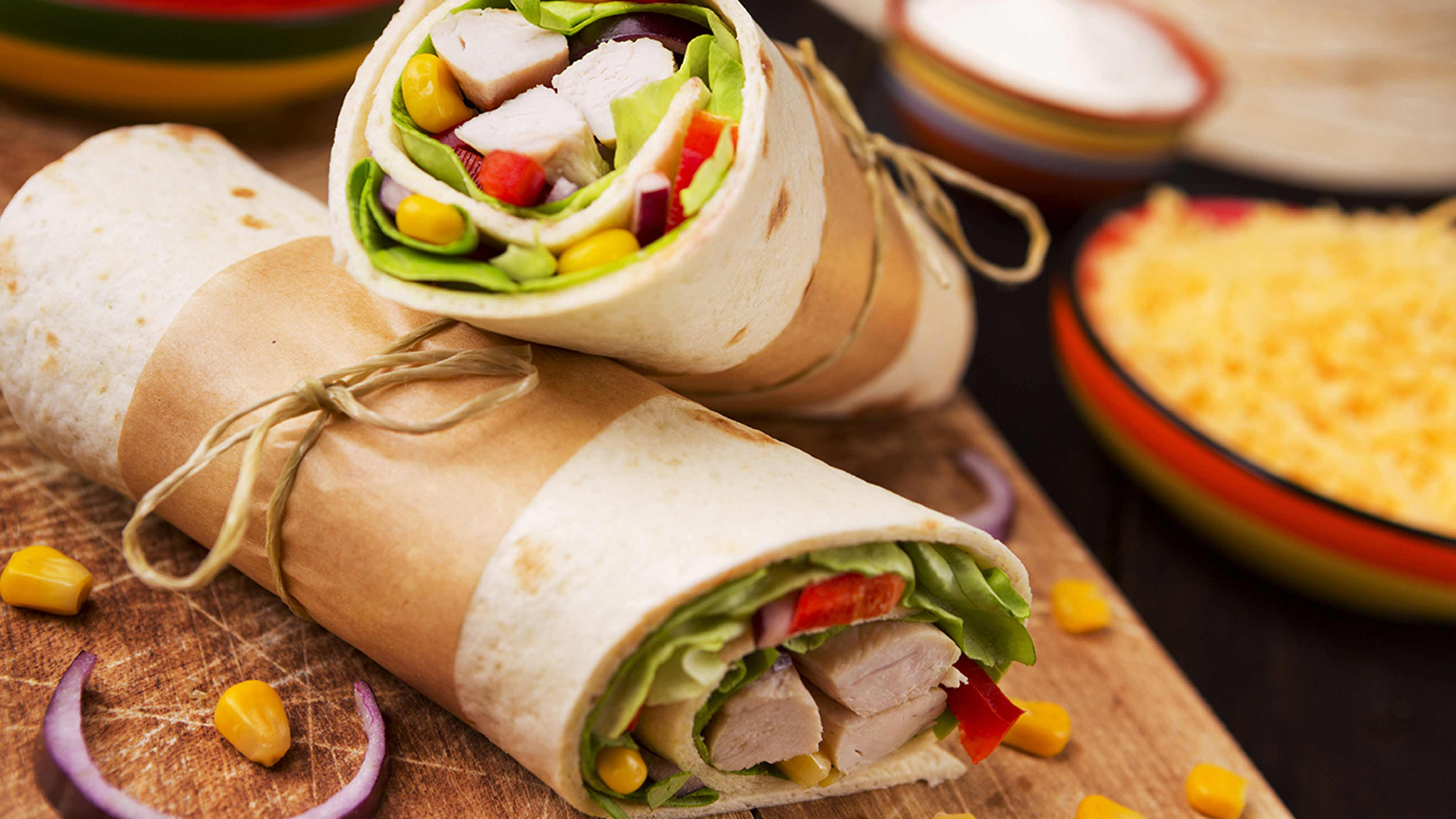 Image for Recipe Southwest Chicken Wraps
