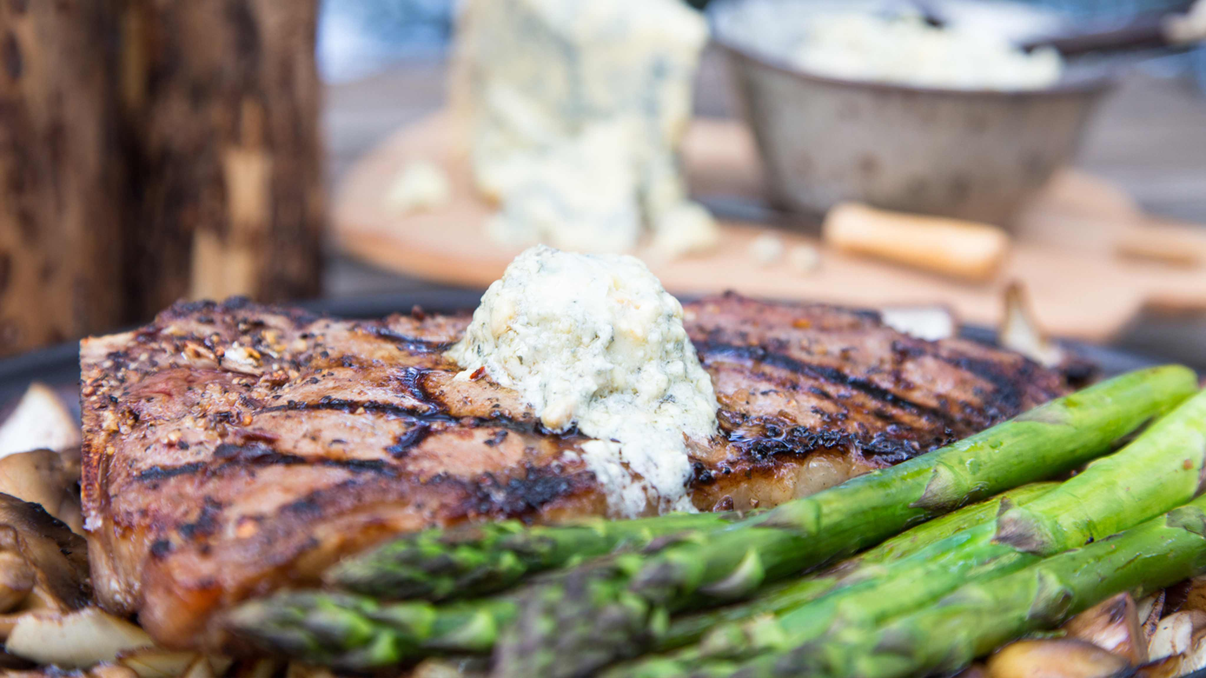 Image for Recipe Blue Cheese Topped Steak