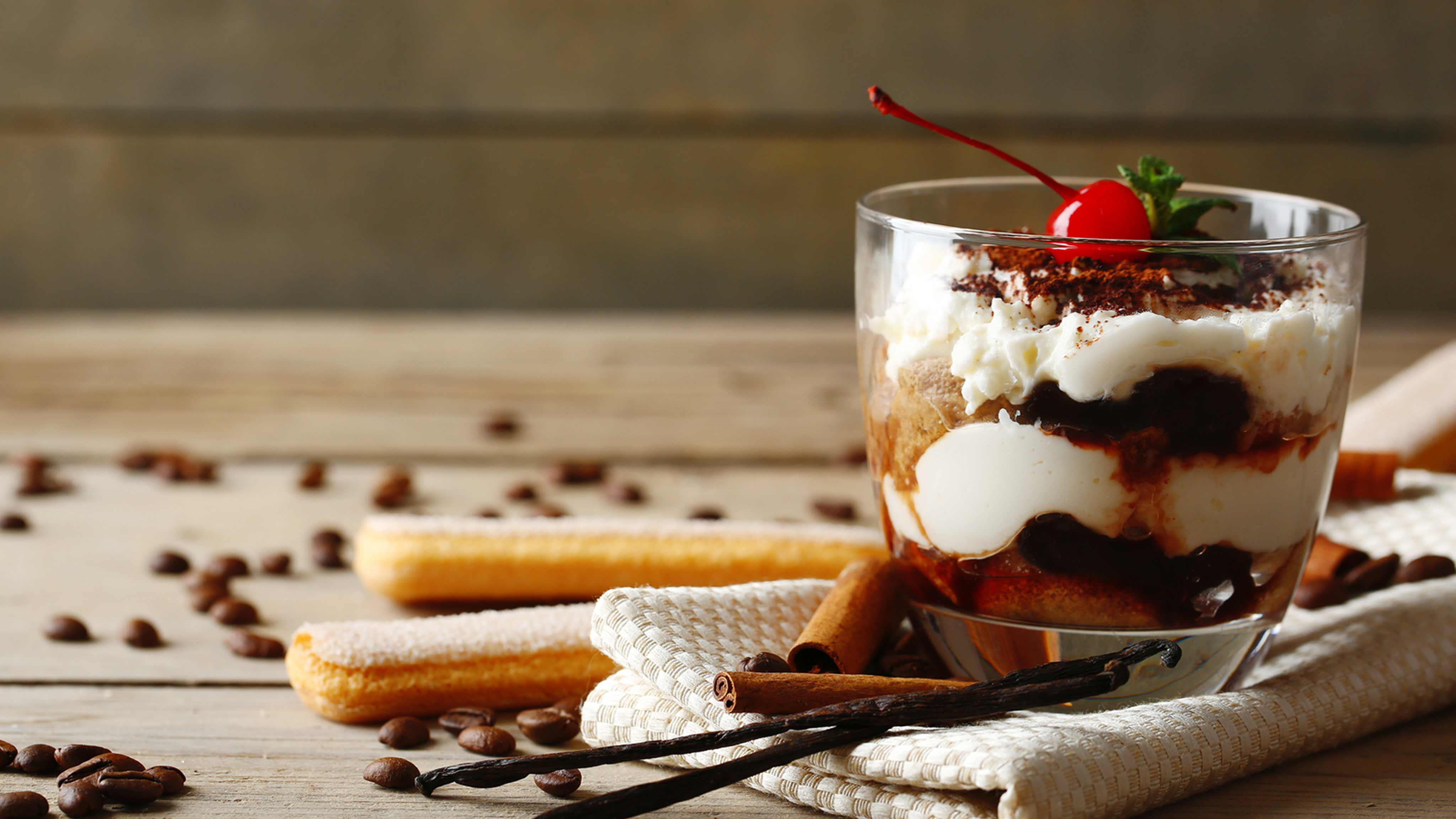 Image for Recipe Cherry Tiramisu Parfait