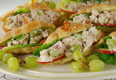 Chicken Salad And Apple Croissants
