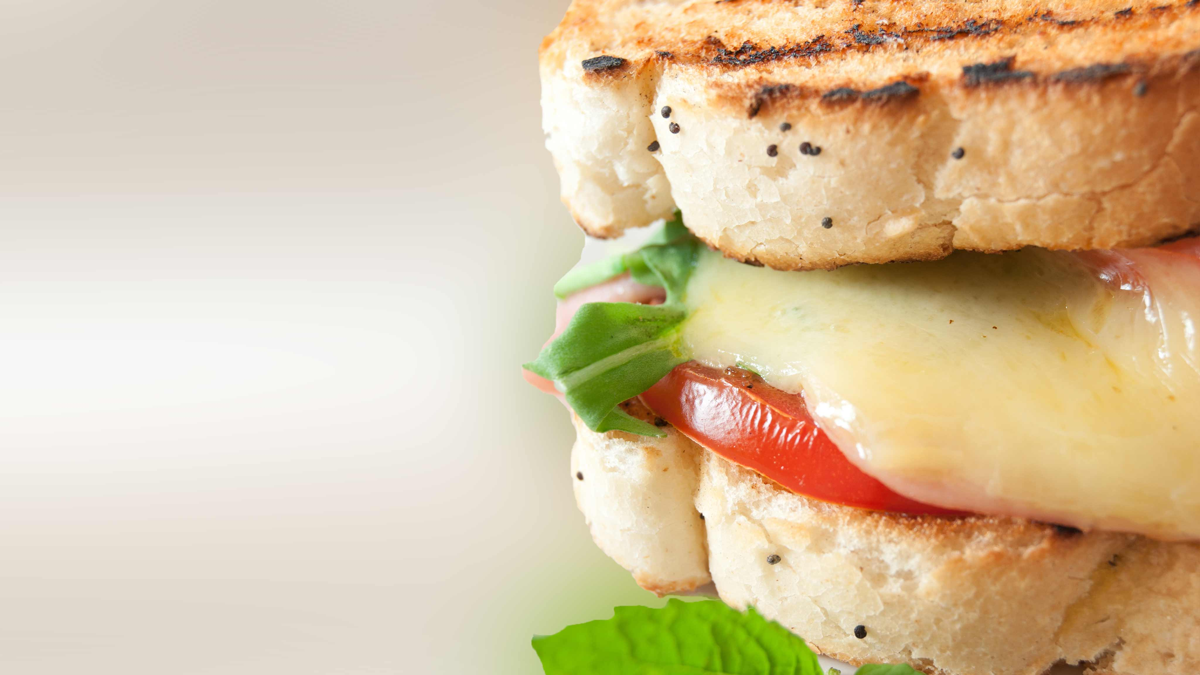 Image for Recipe Grilled Cheese with Arugula, Fresh Basil and Tomato