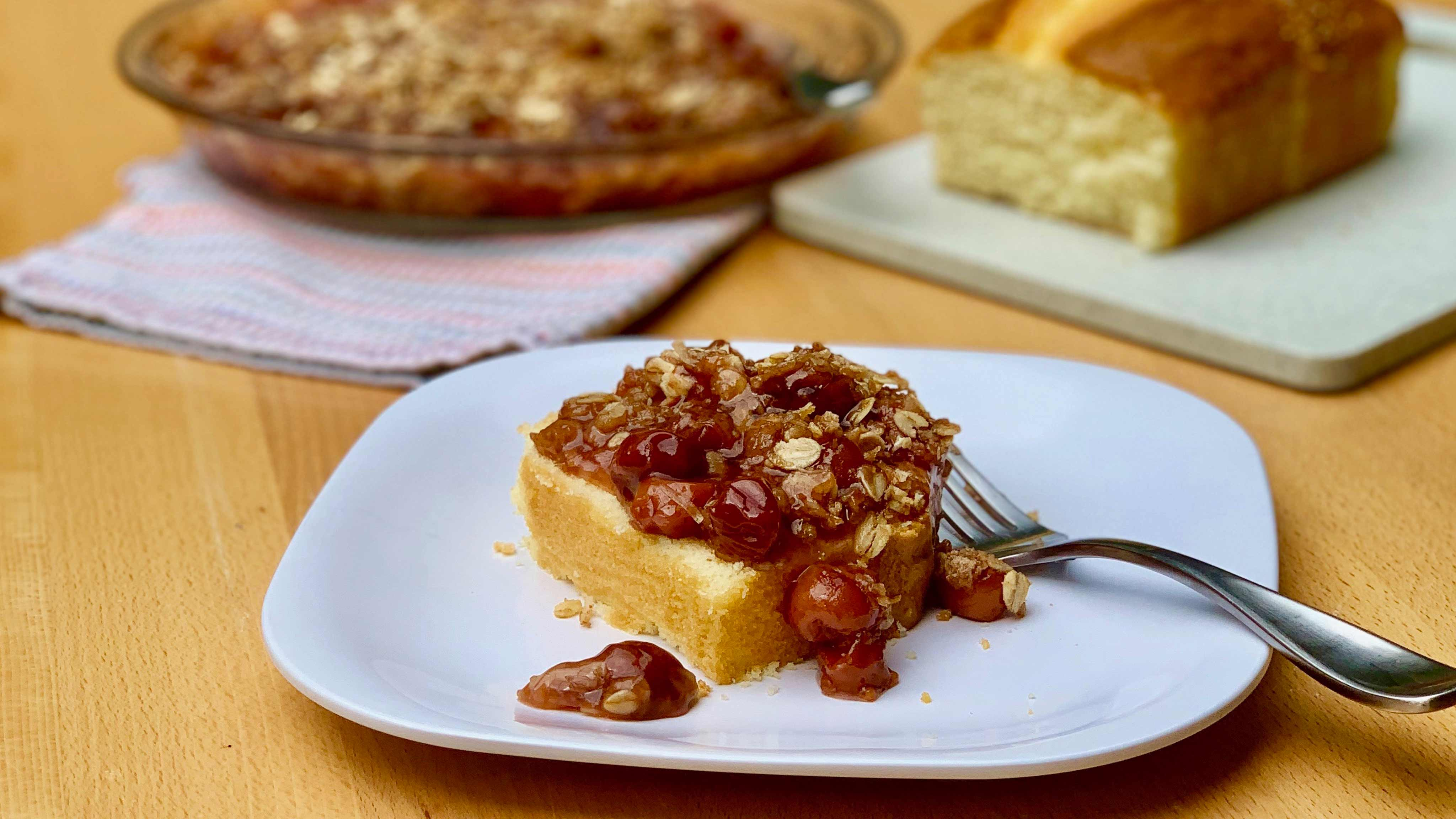 Image for Recipe Pound Cake with Coconut Cherry Streusel