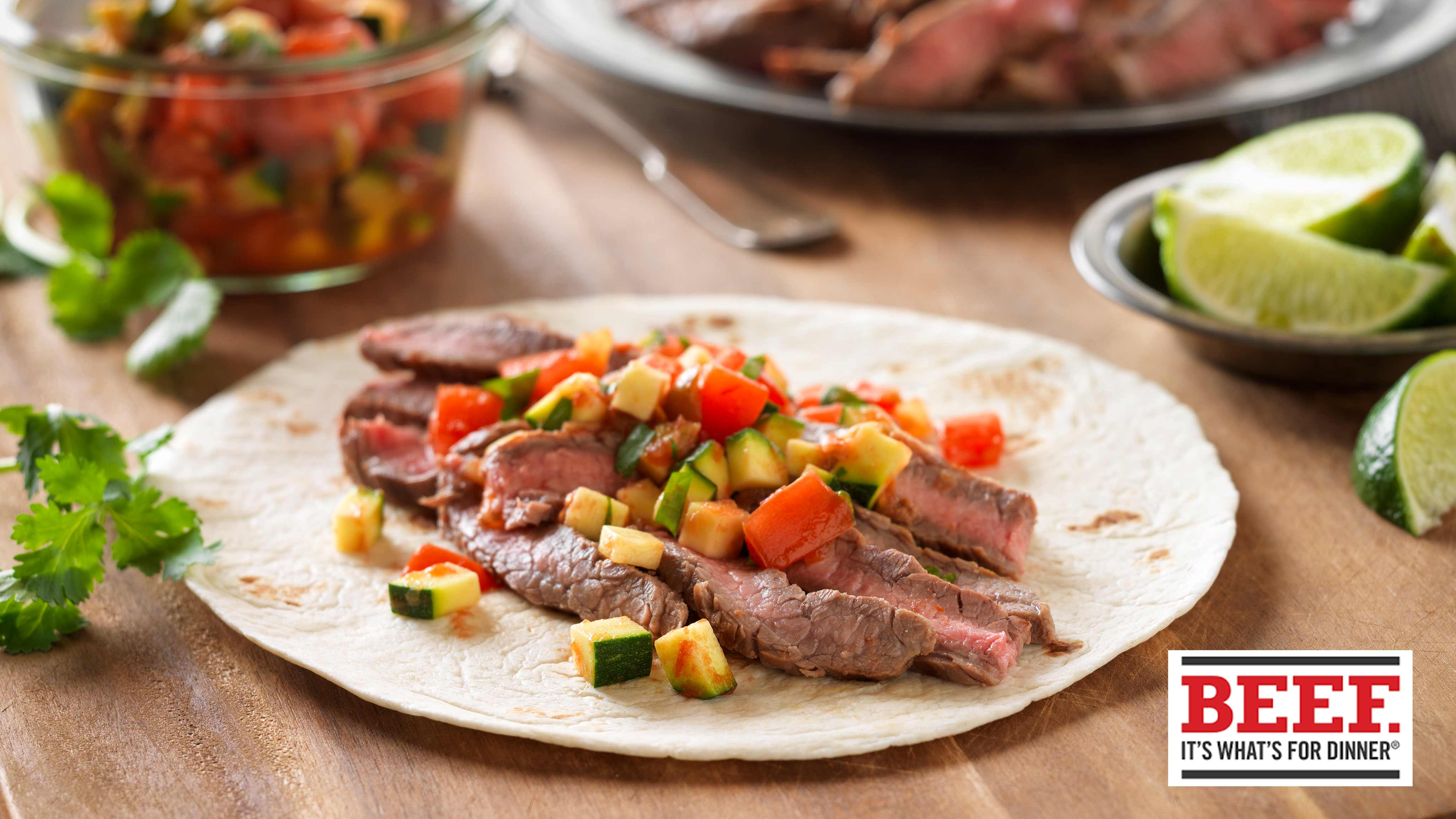 Image for Recipe Quick Beef Fajitas with Pico de Gallo