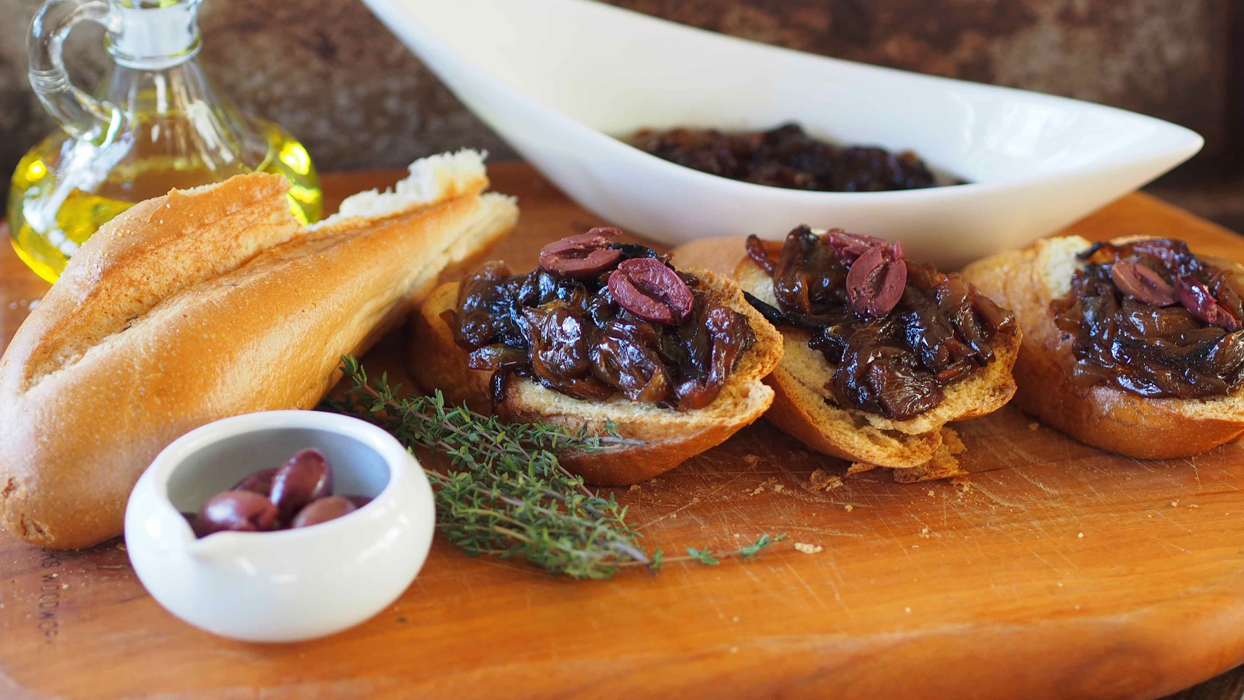 Image for Recipe Caramelized Onion Bruschetta