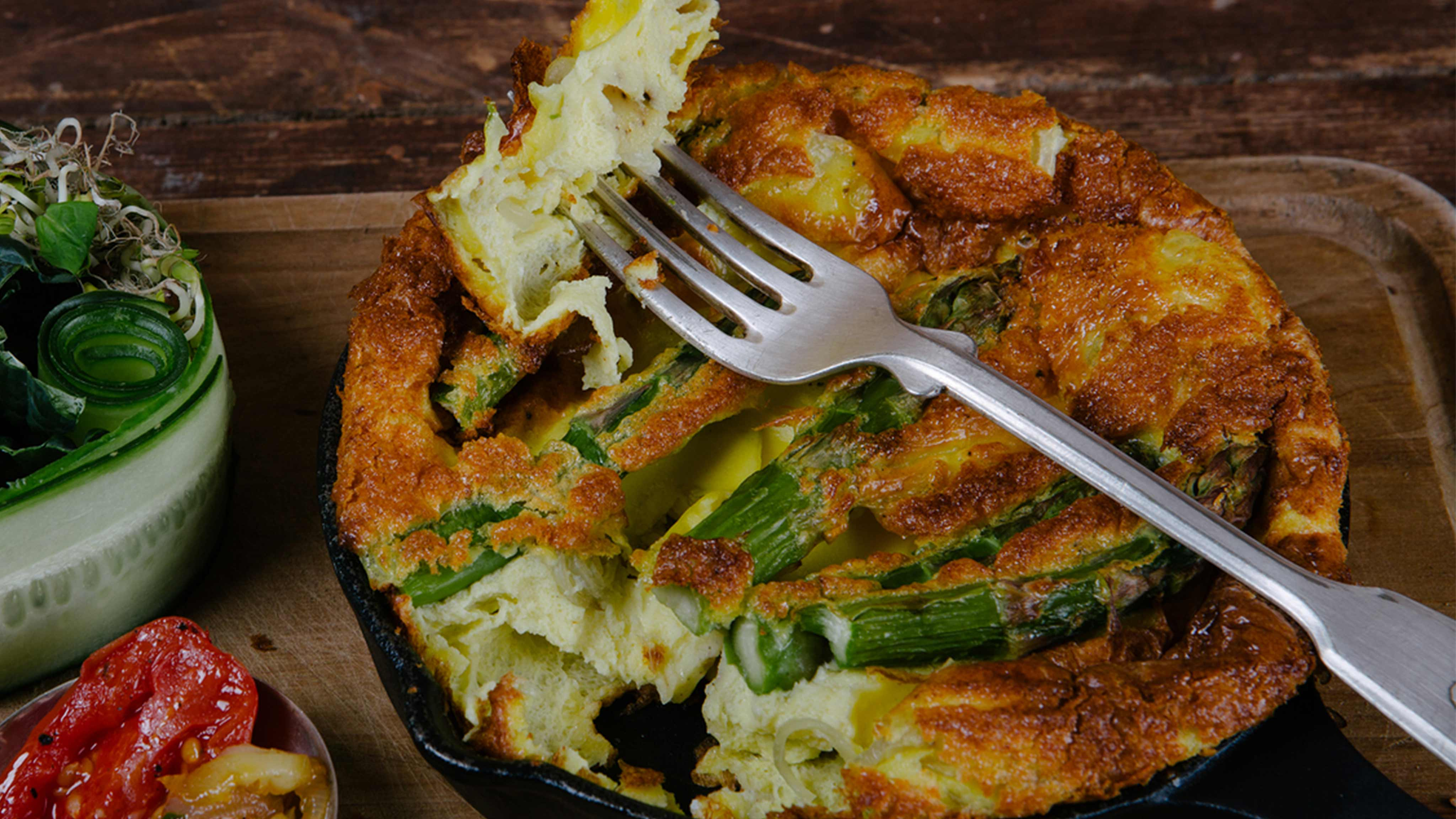 Image for Recipe Asparagus and Parmesan Frittata