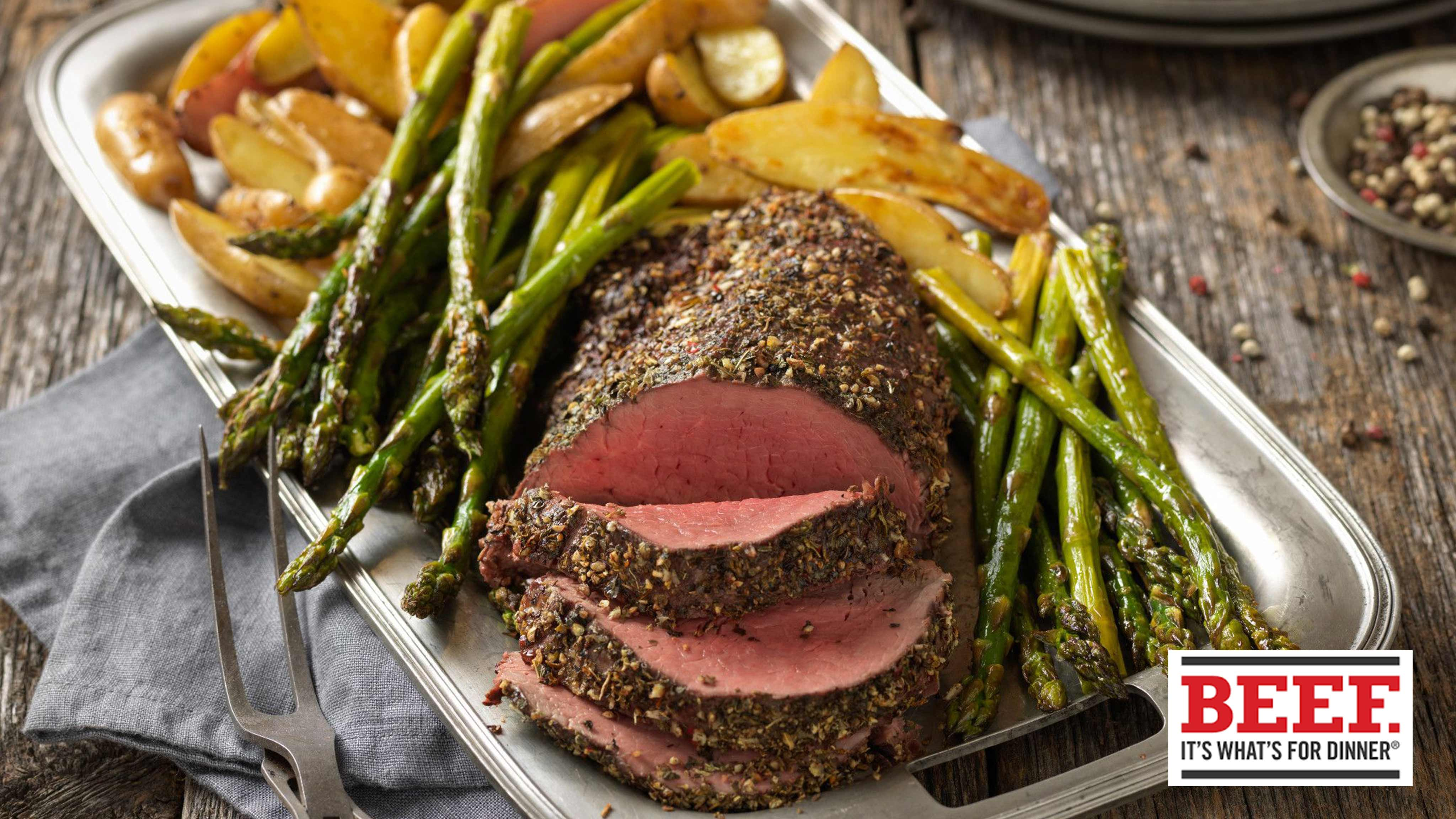 Image for Recipe Pepper Herb Crusted Beef Tenderloin