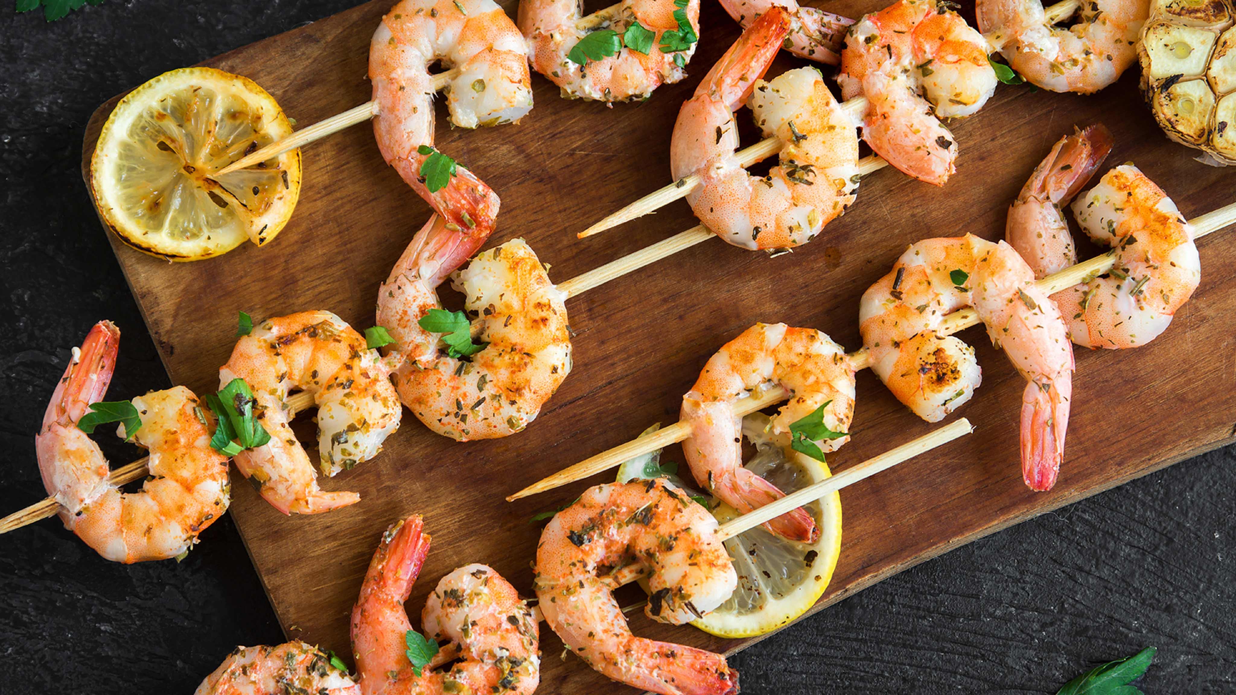 Image for Recipe Grilled Lemon Herb Shrimp