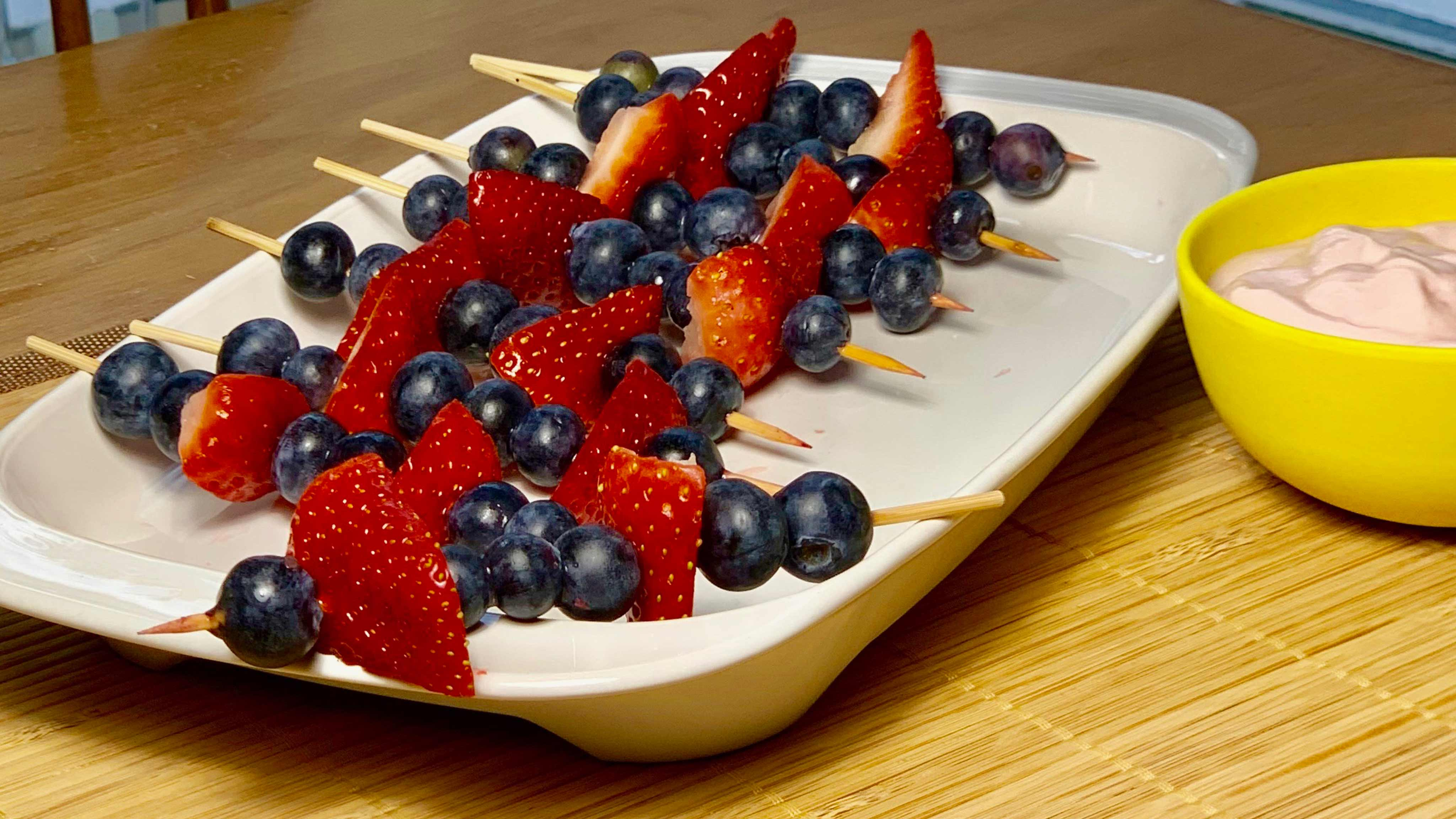 Image for Recipe Berry Kabobs with Yogurt