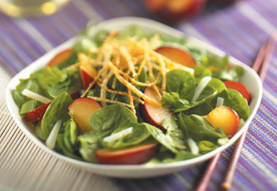 Asian Plum Salad With Ginger Dressing