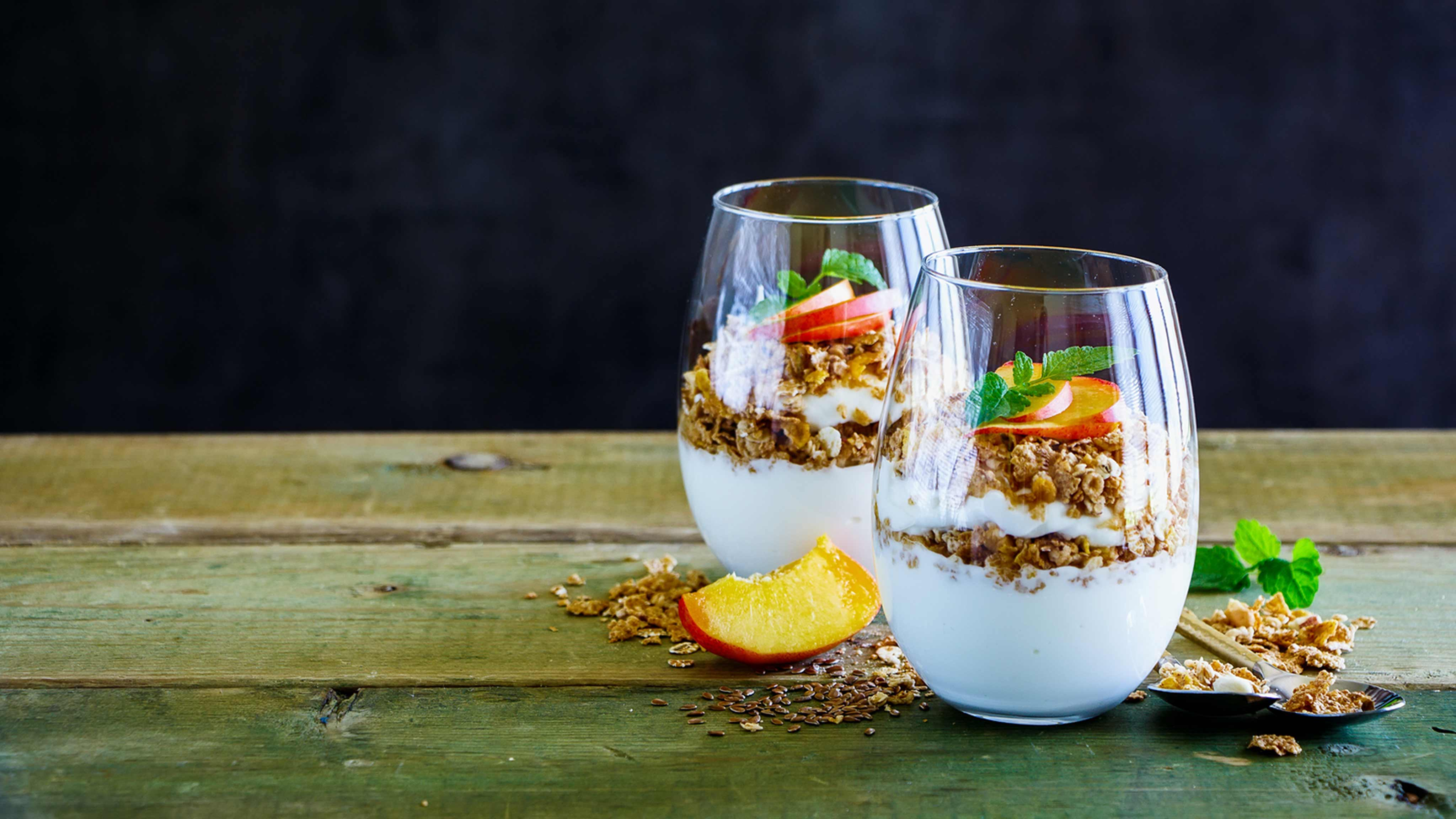 Image for Recipe Peachy Granola Yogurt Parfait