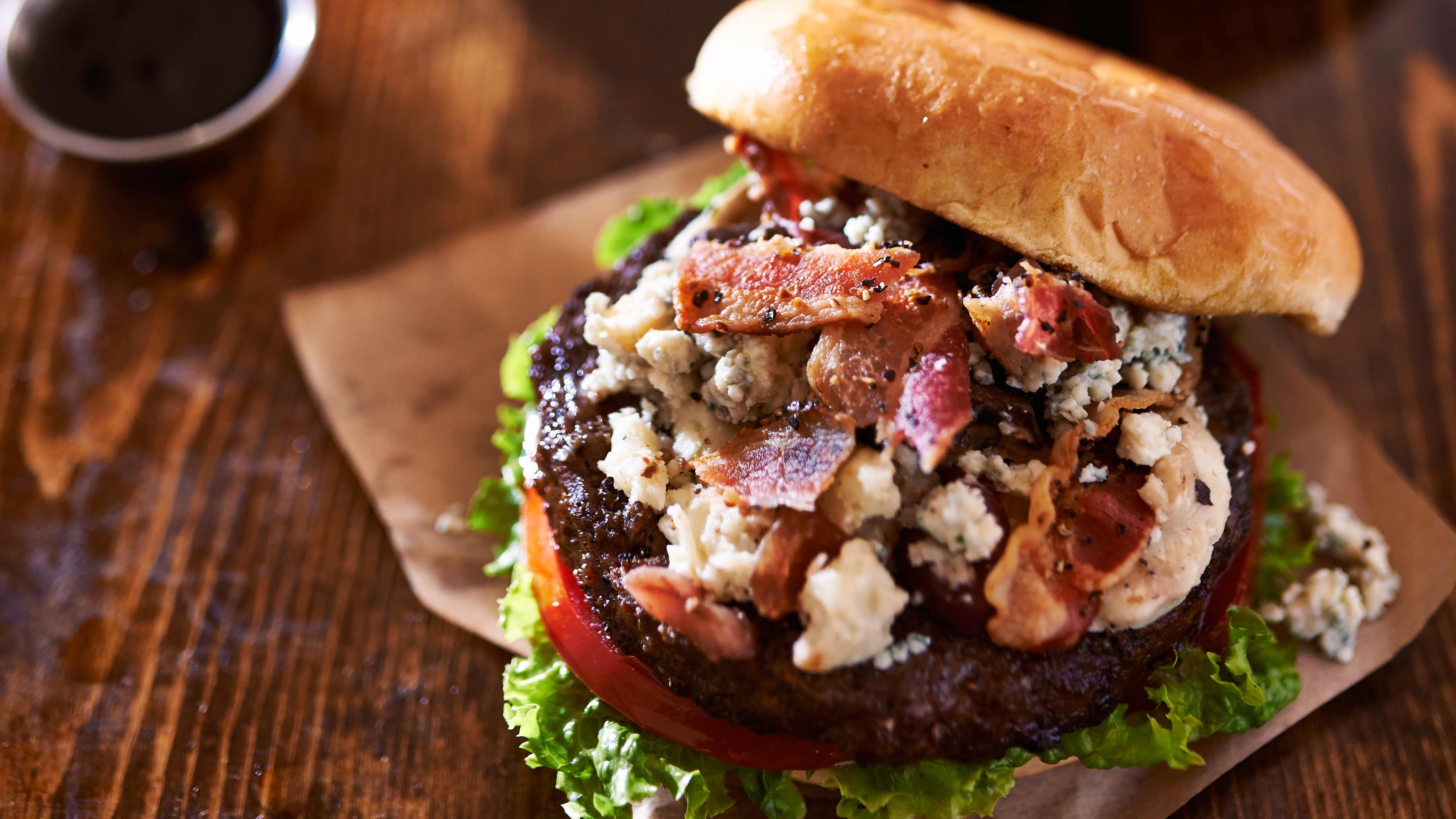 Image for Recipe Bacon Blue Burger