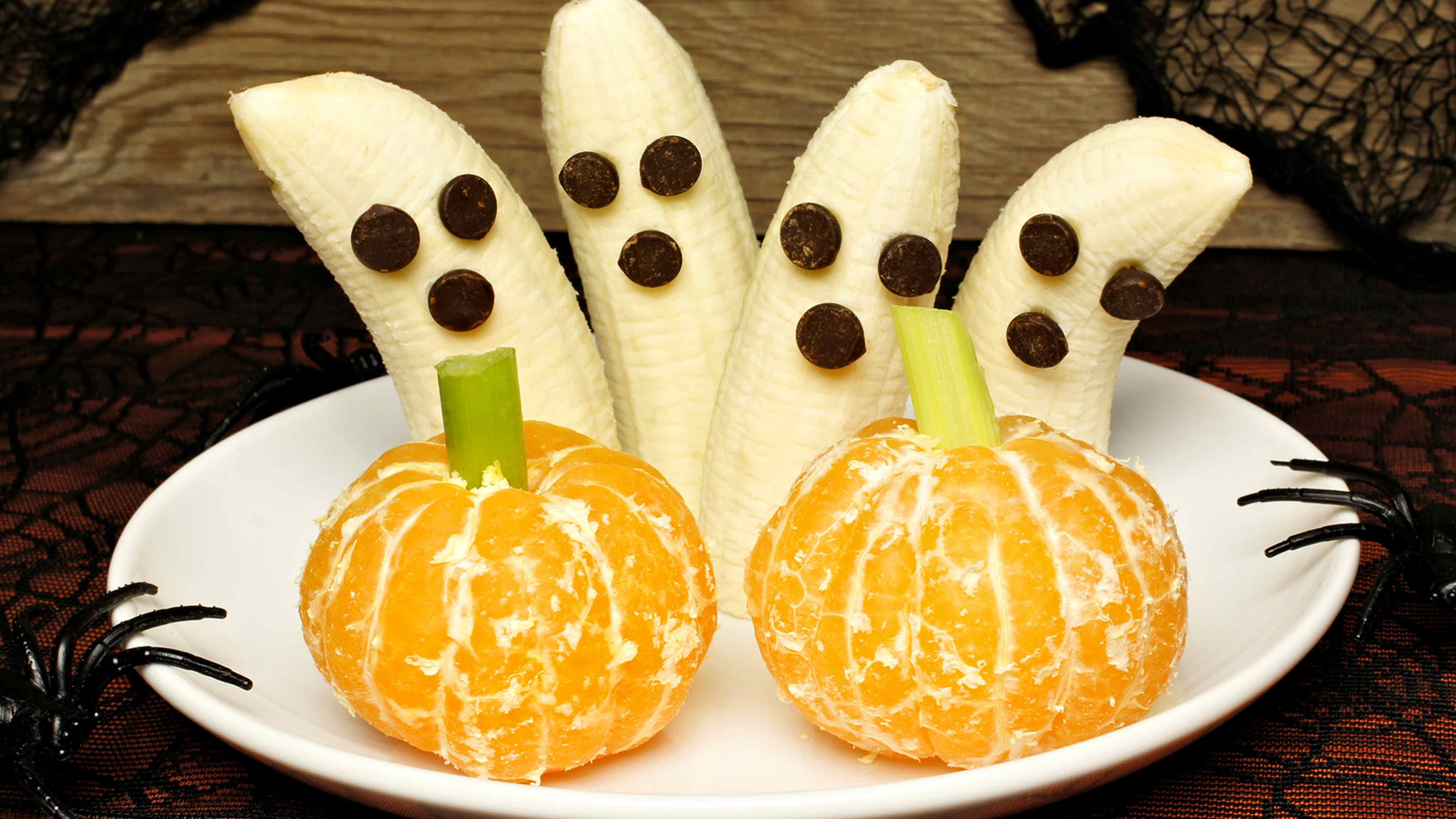 Image for Recipe Healthy Ghosts and Pumpkins