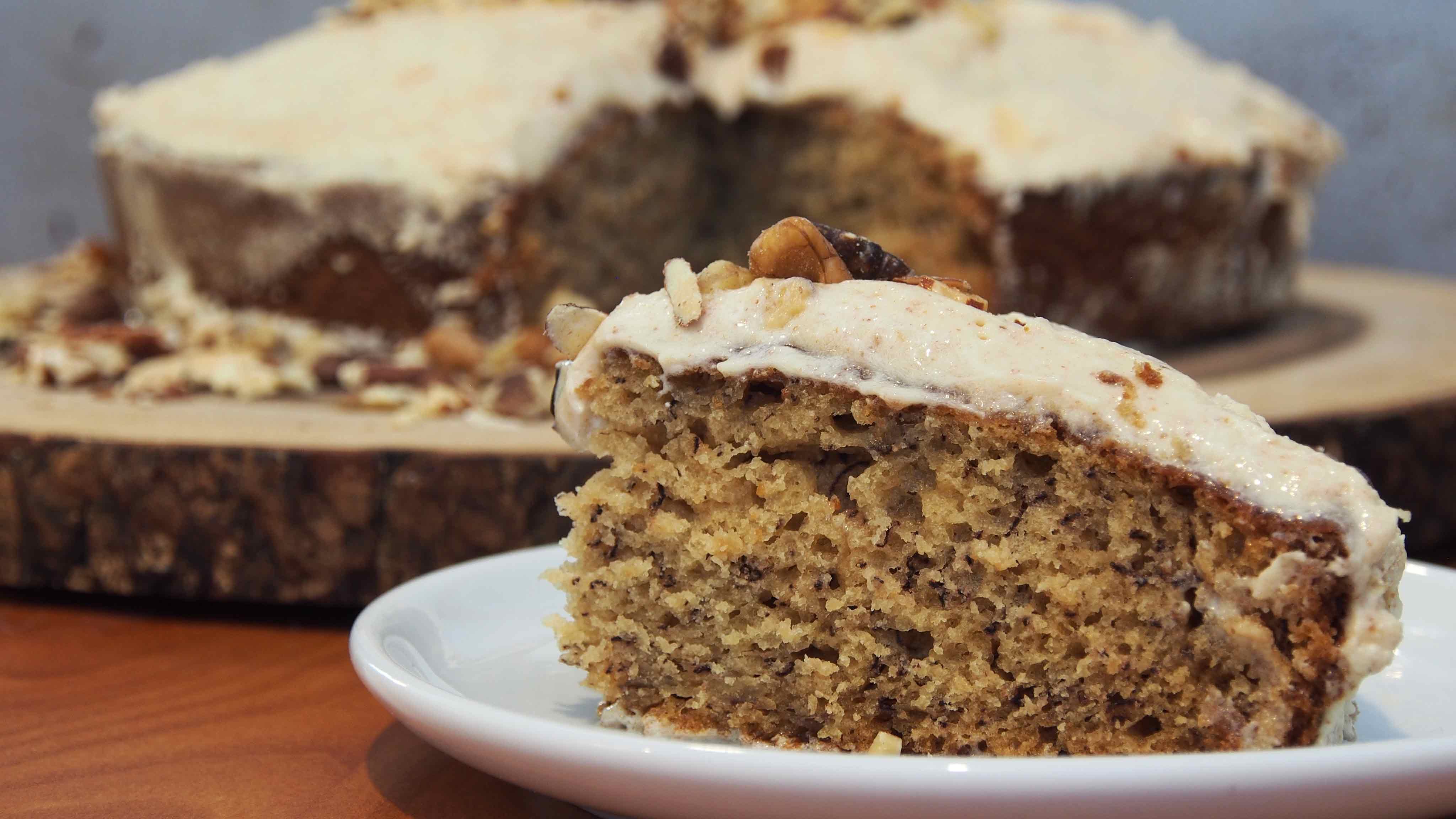 Image for Recipe Banana Cake with Almond Butter Frosting