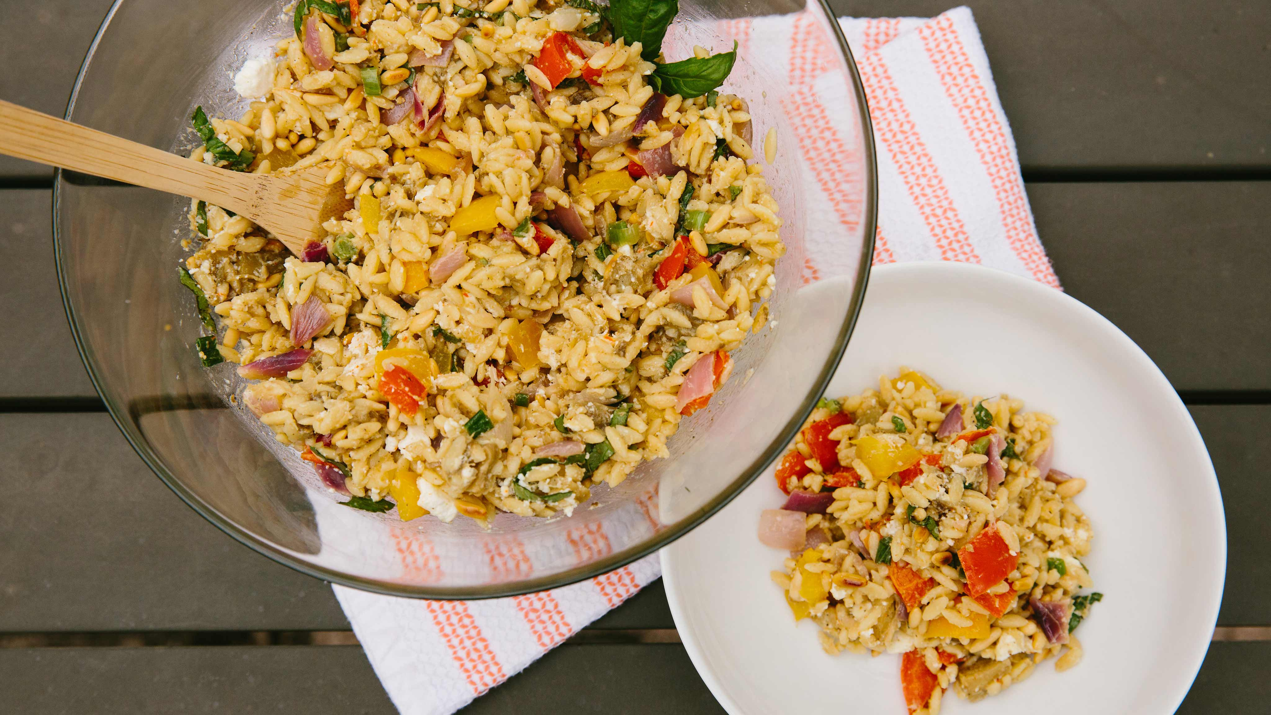 Image for Recipe Orzo Salad with Summer Roasted Vegetables