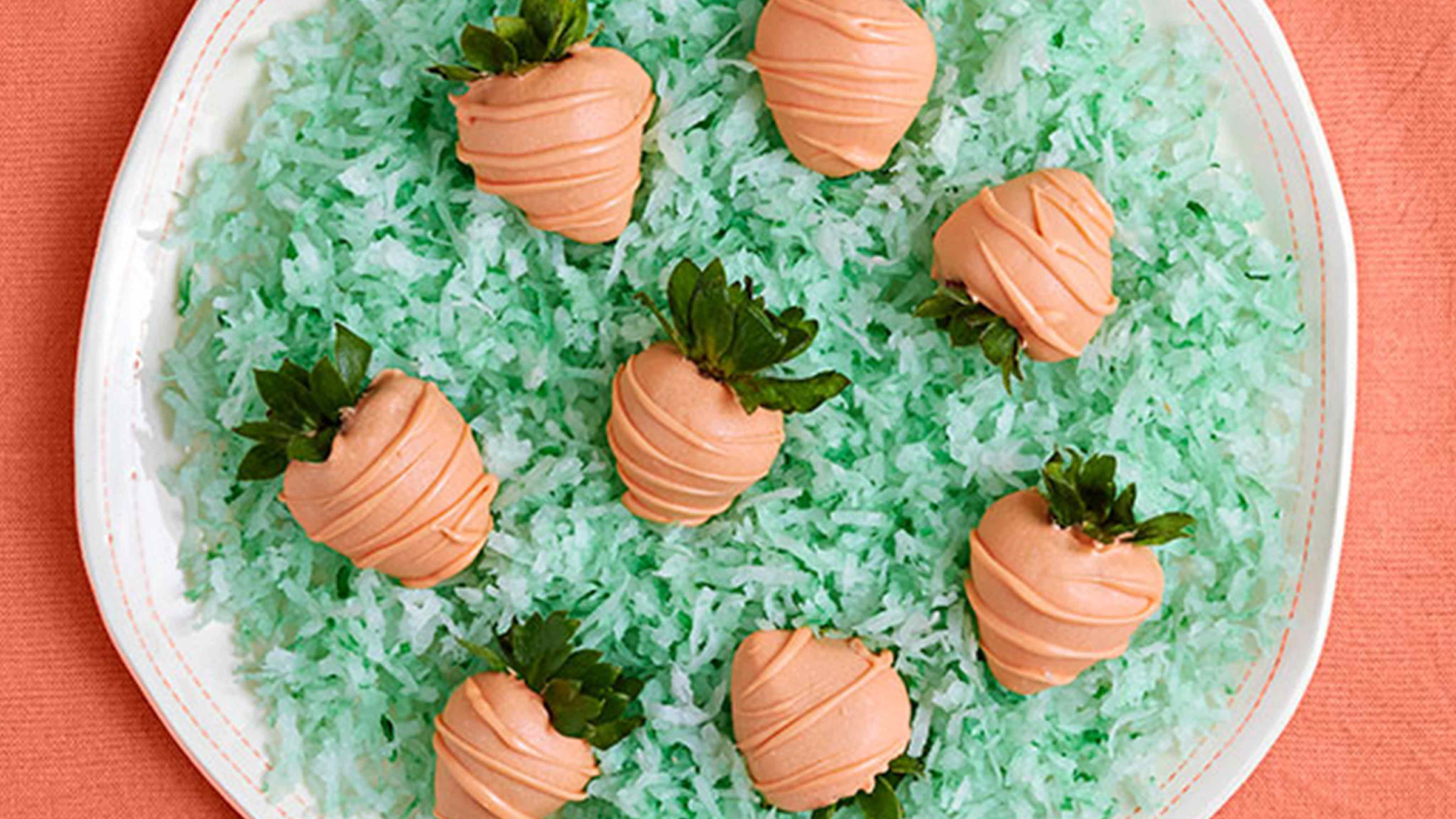 "Image for Recipe Chocolate Dipped Strawberry ""Carrots"""