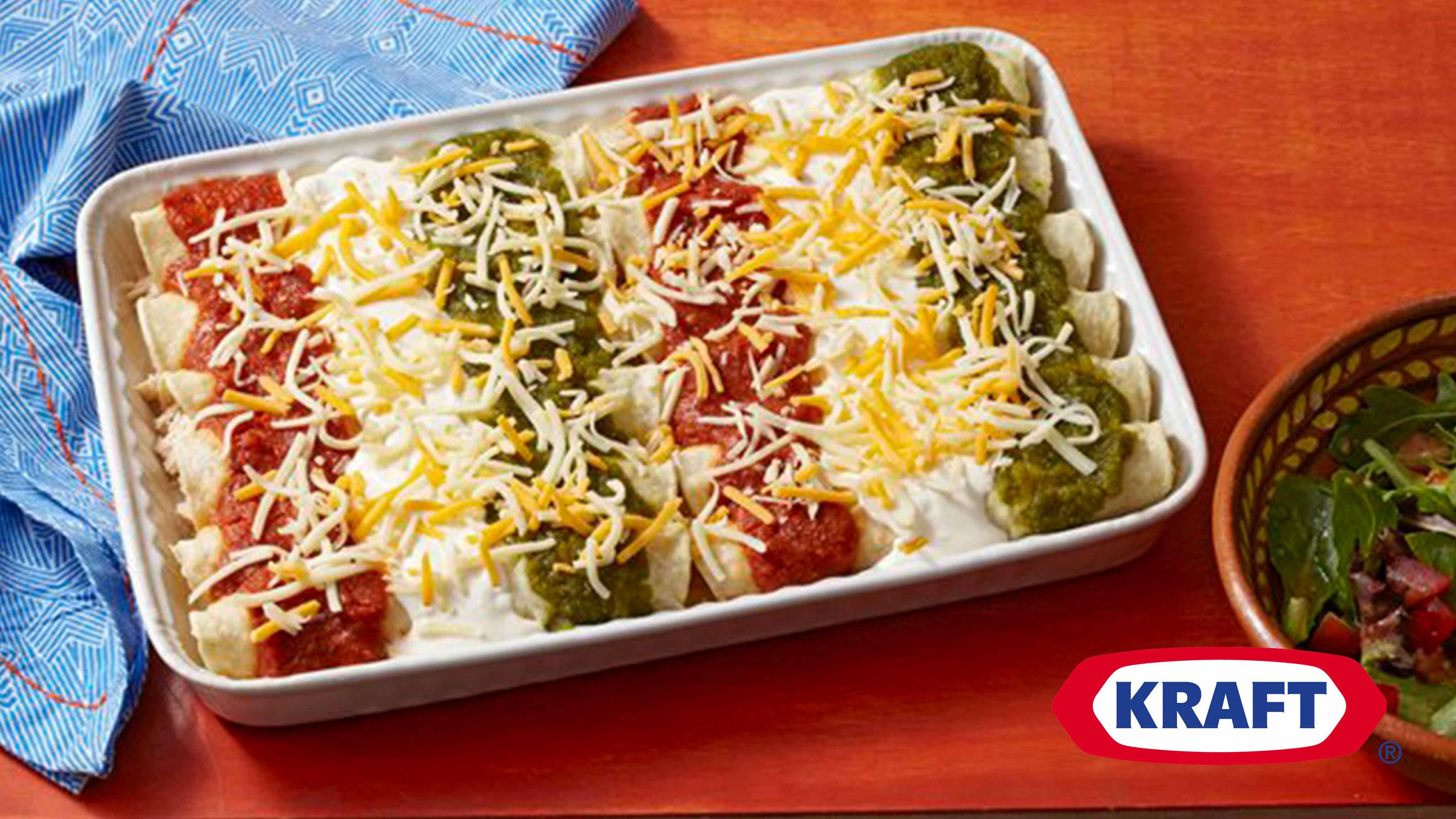 Image for Recipe Tri Color Enchiladas
