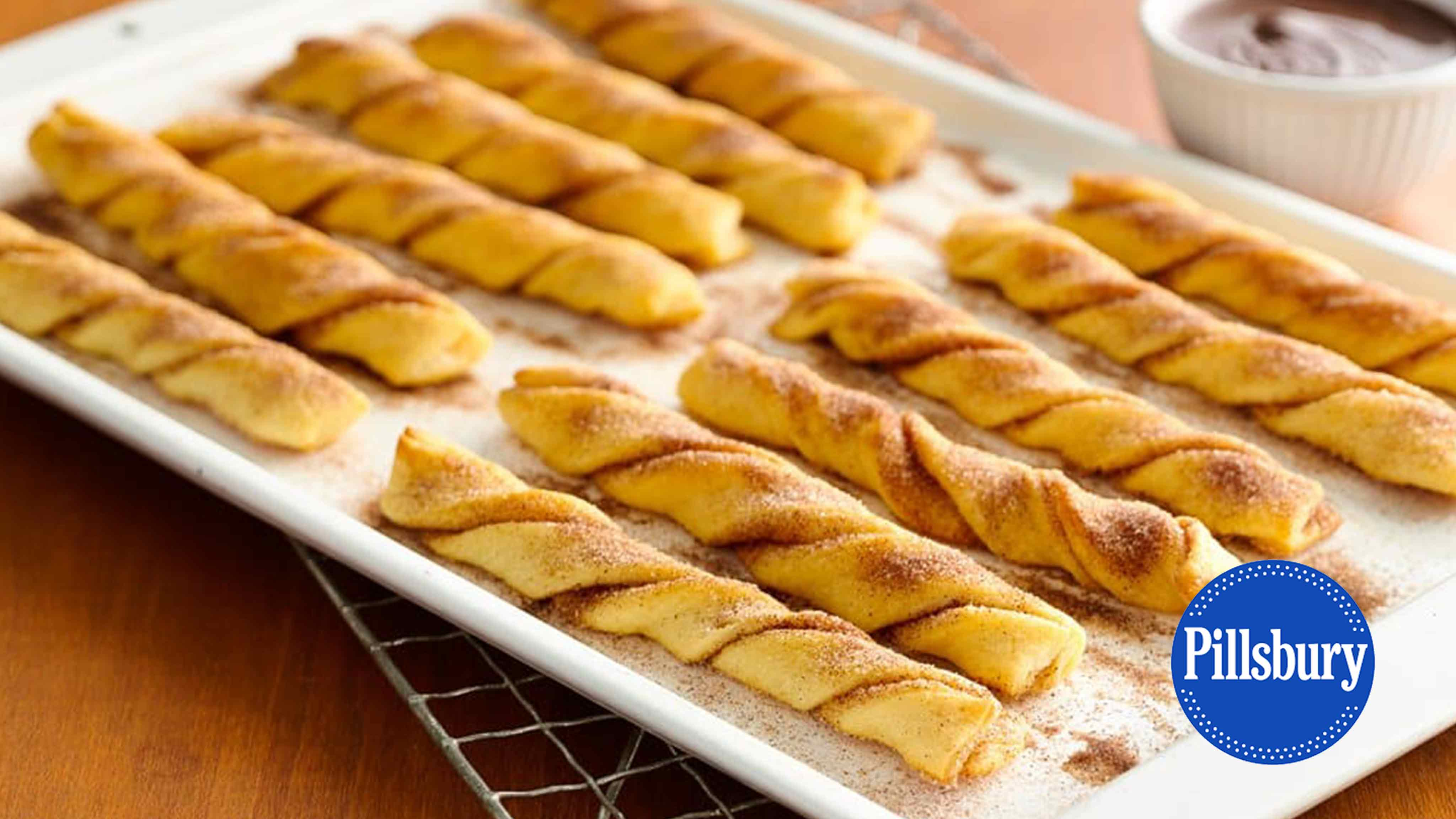 Image for Recipe Baked Crescent Churros