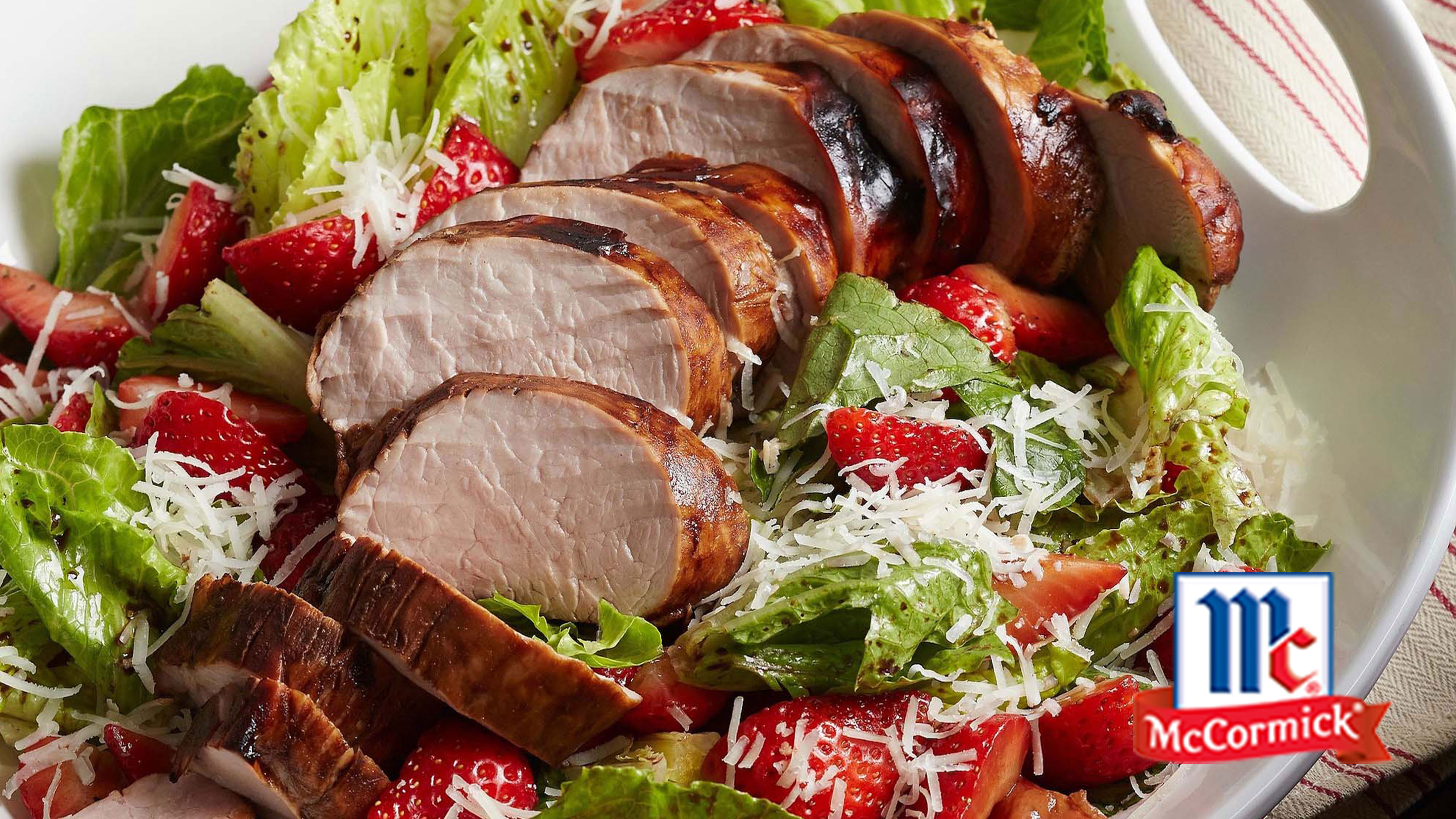 Image for Recipe Balsamic Pork and Strawberry Salad