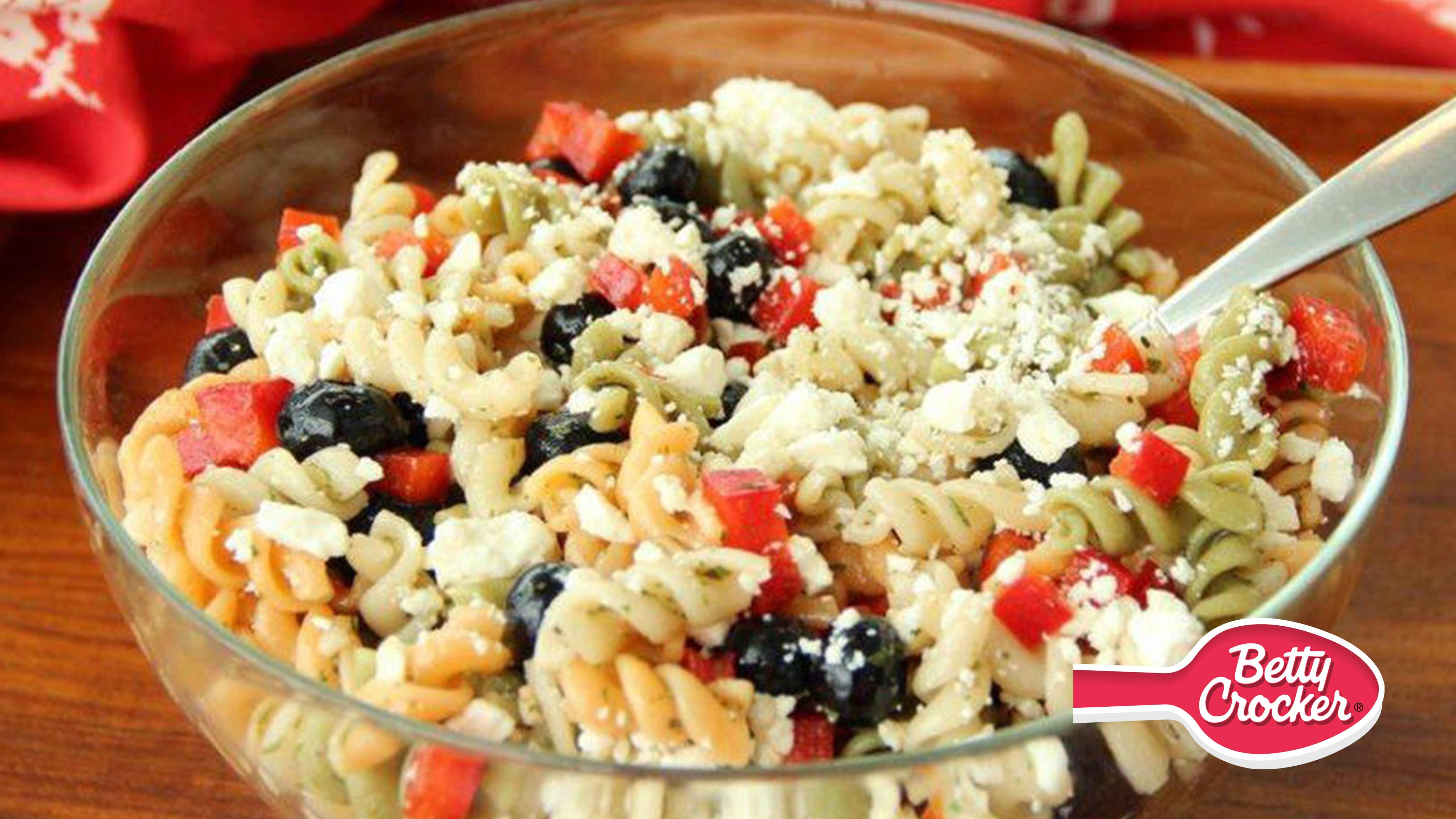 Image for Recipe Red, White and Blueberry Pasta Salad