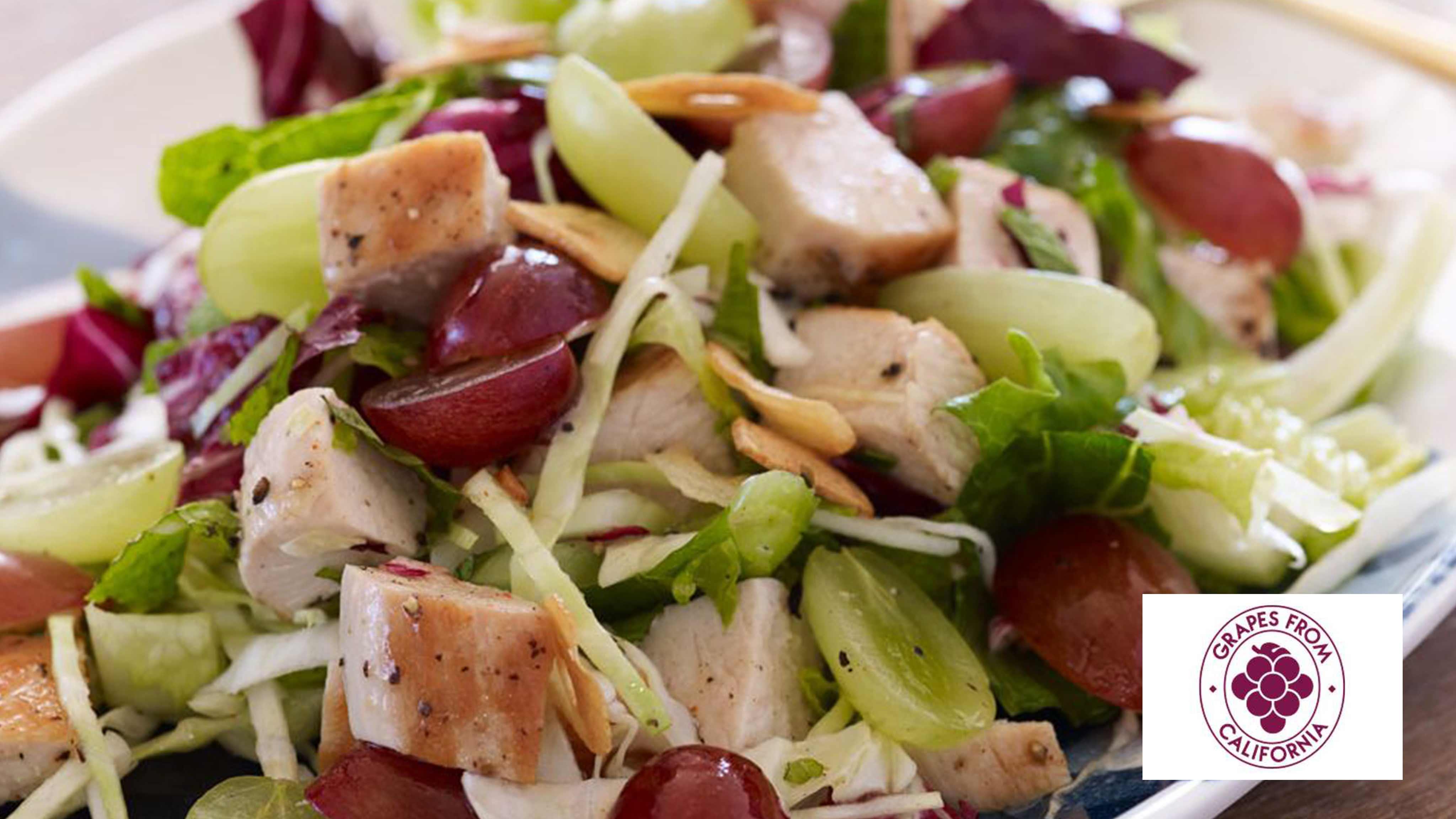 Image for Recipe Crispy Garlic Chicken Chopped Salad