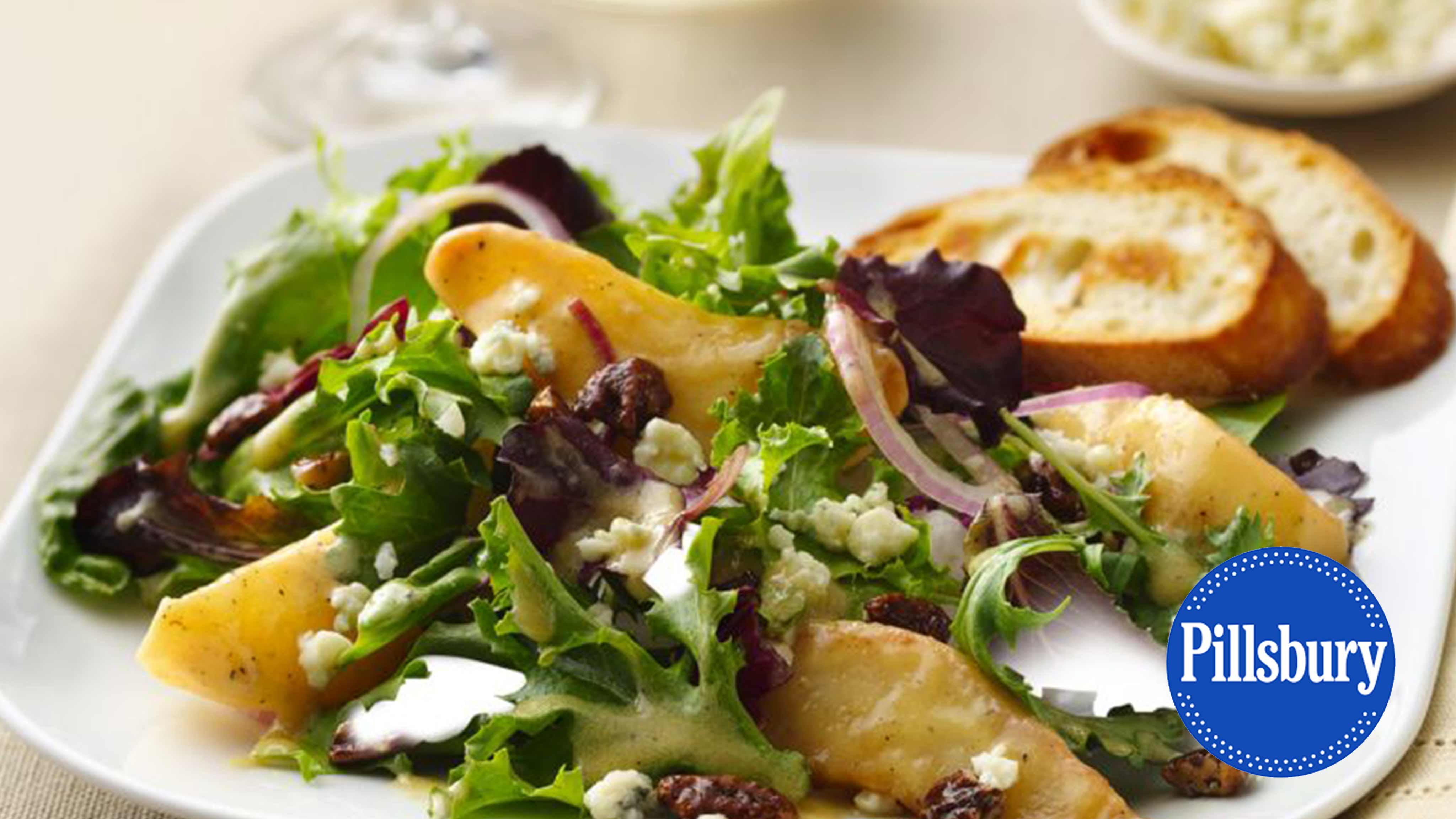 Image for Recipe Caramelized Pears and Gorgonzola Salad
