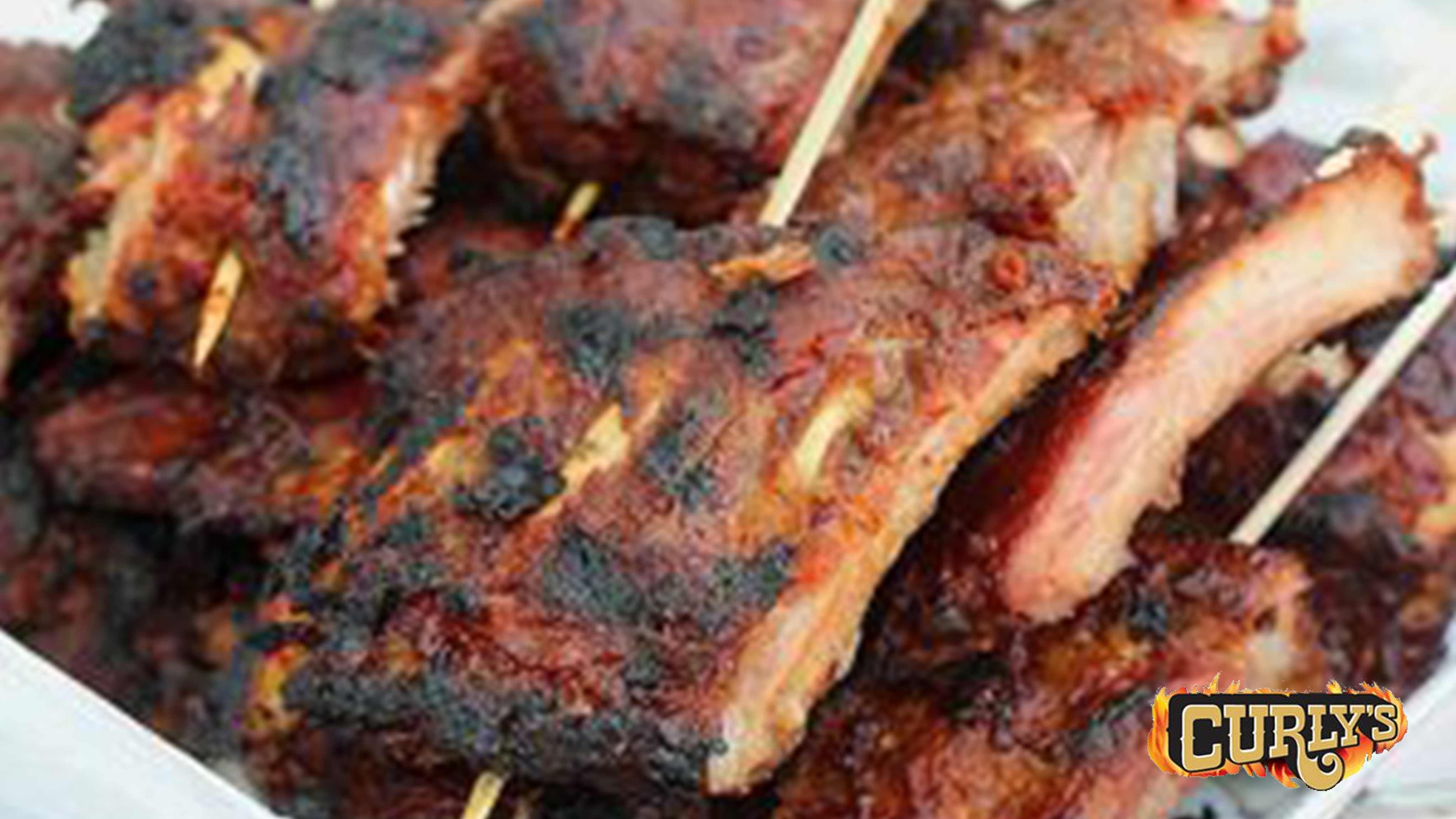 Image for Recipe Curly's Pork Rib Skewers