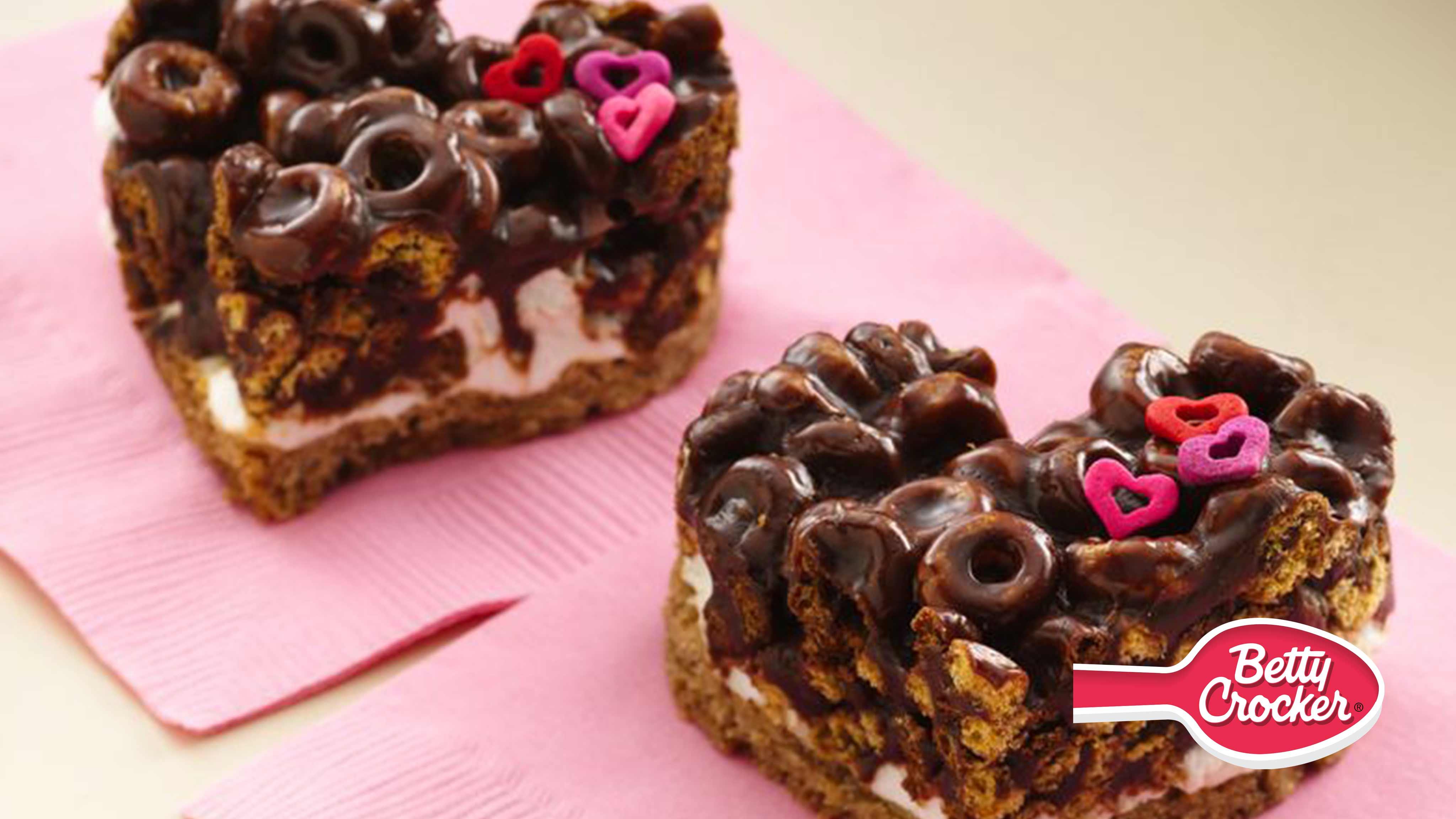 Image for Recipe Chocolate Cheerios Marshmallow Hearts