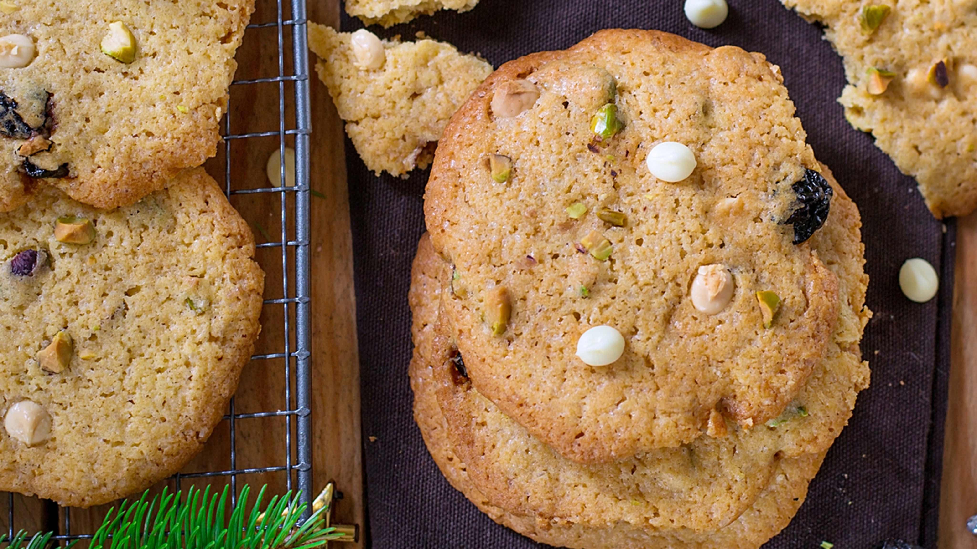 Image for Recipe Chewy Cherry Pistachio Cookies