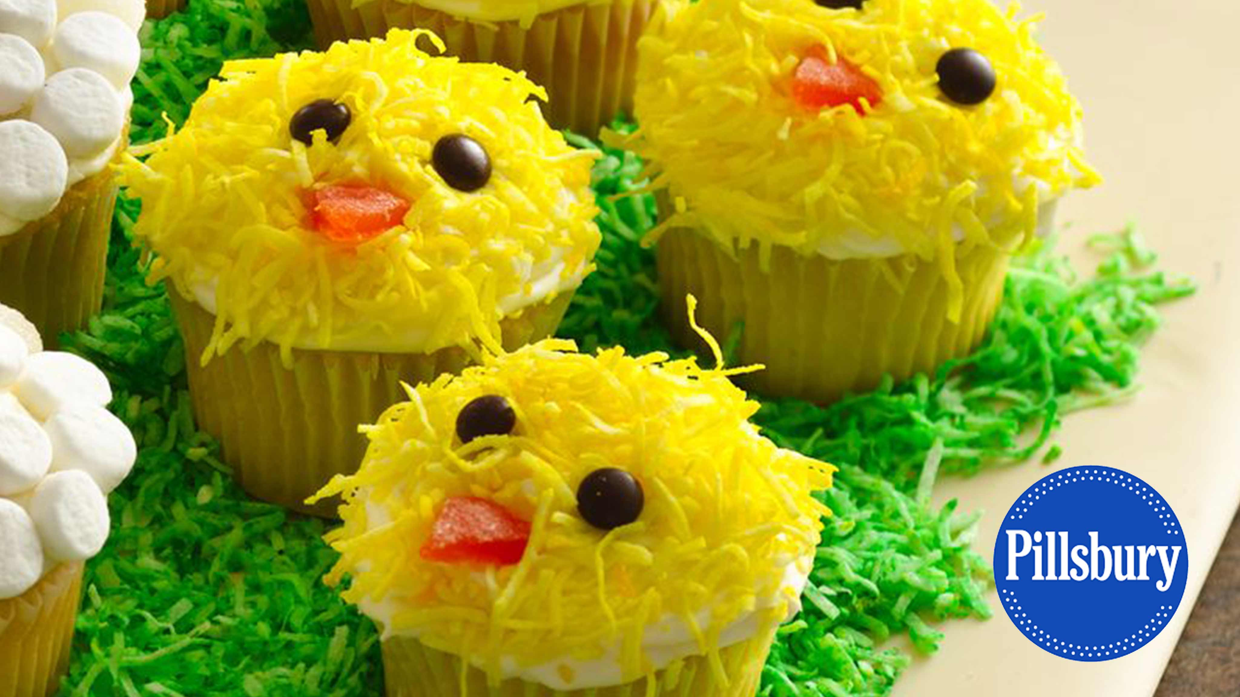 Image for Recipe Easter Chicks Cupcakes