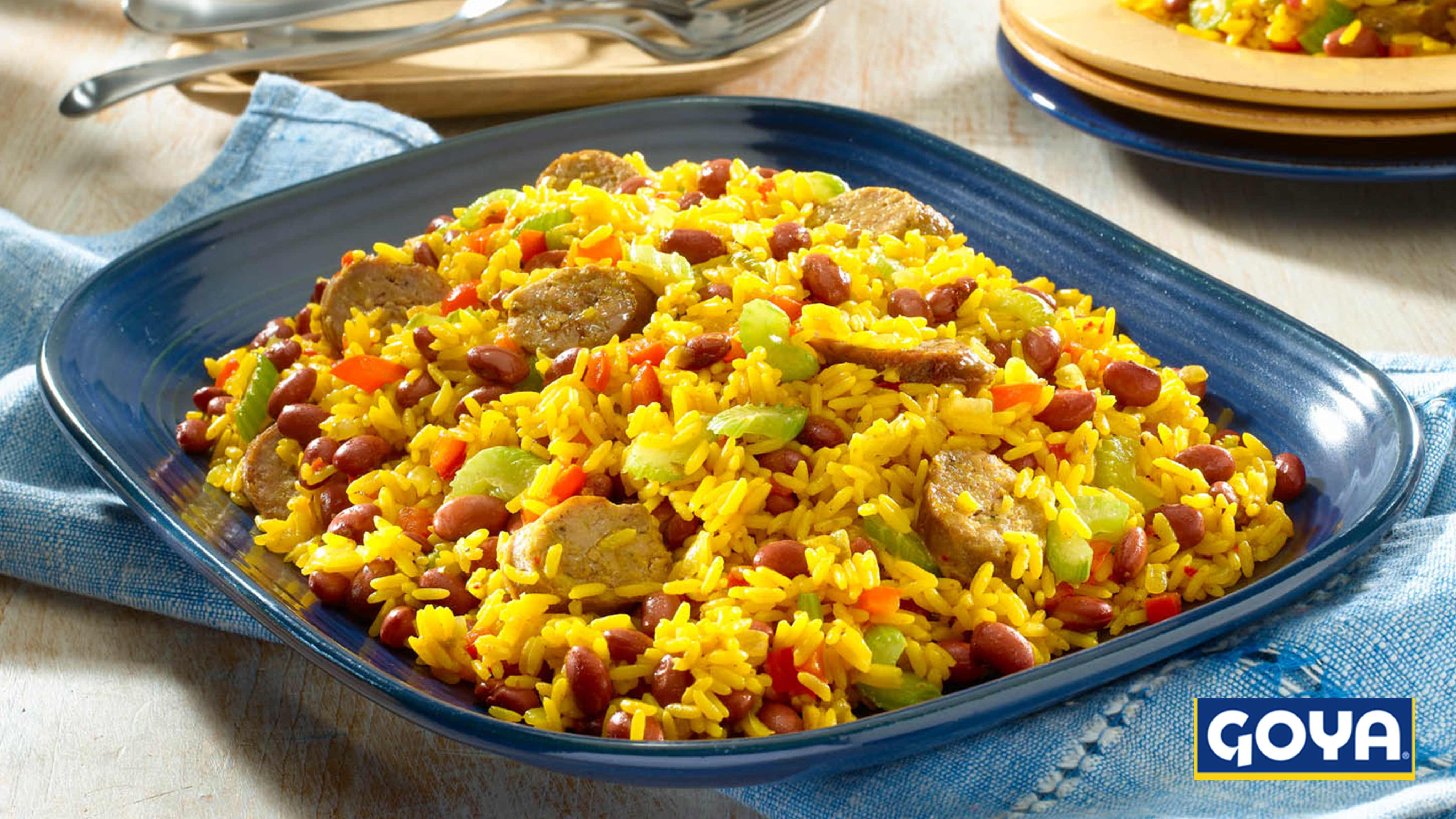 Image for Recipe Yellow Rice with Red Beans and Sausage