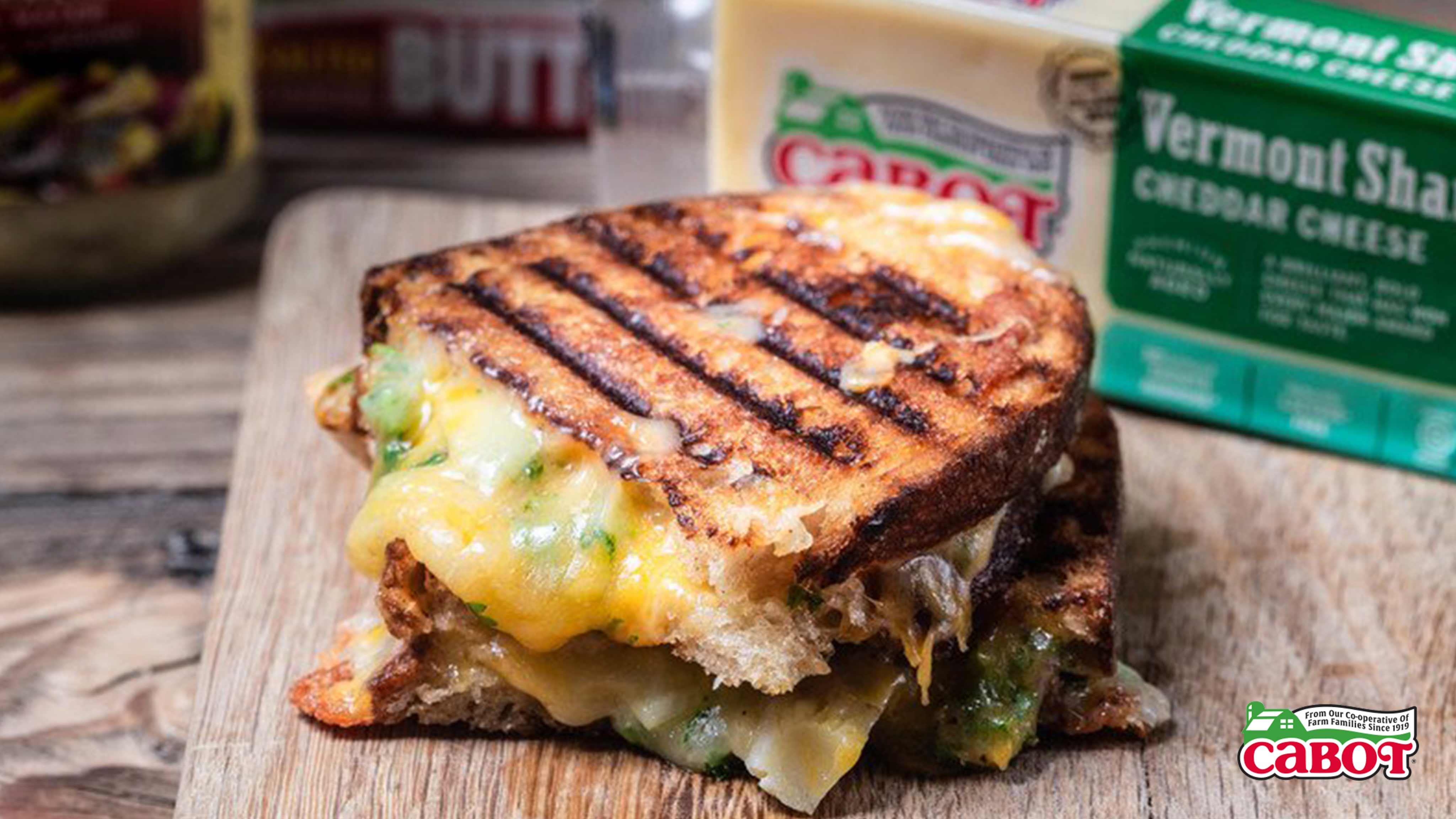 Image for Recipe Cheddar Artichoke Grilled Cheese