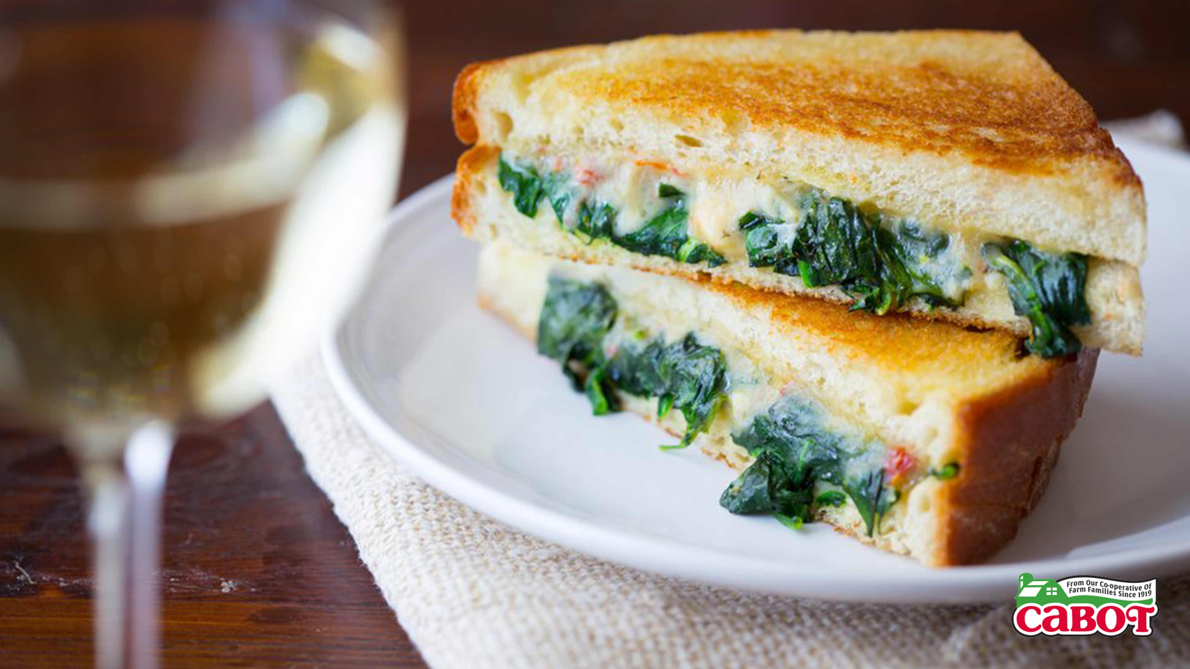 Image for Recipe Grilled Cheese Florentine