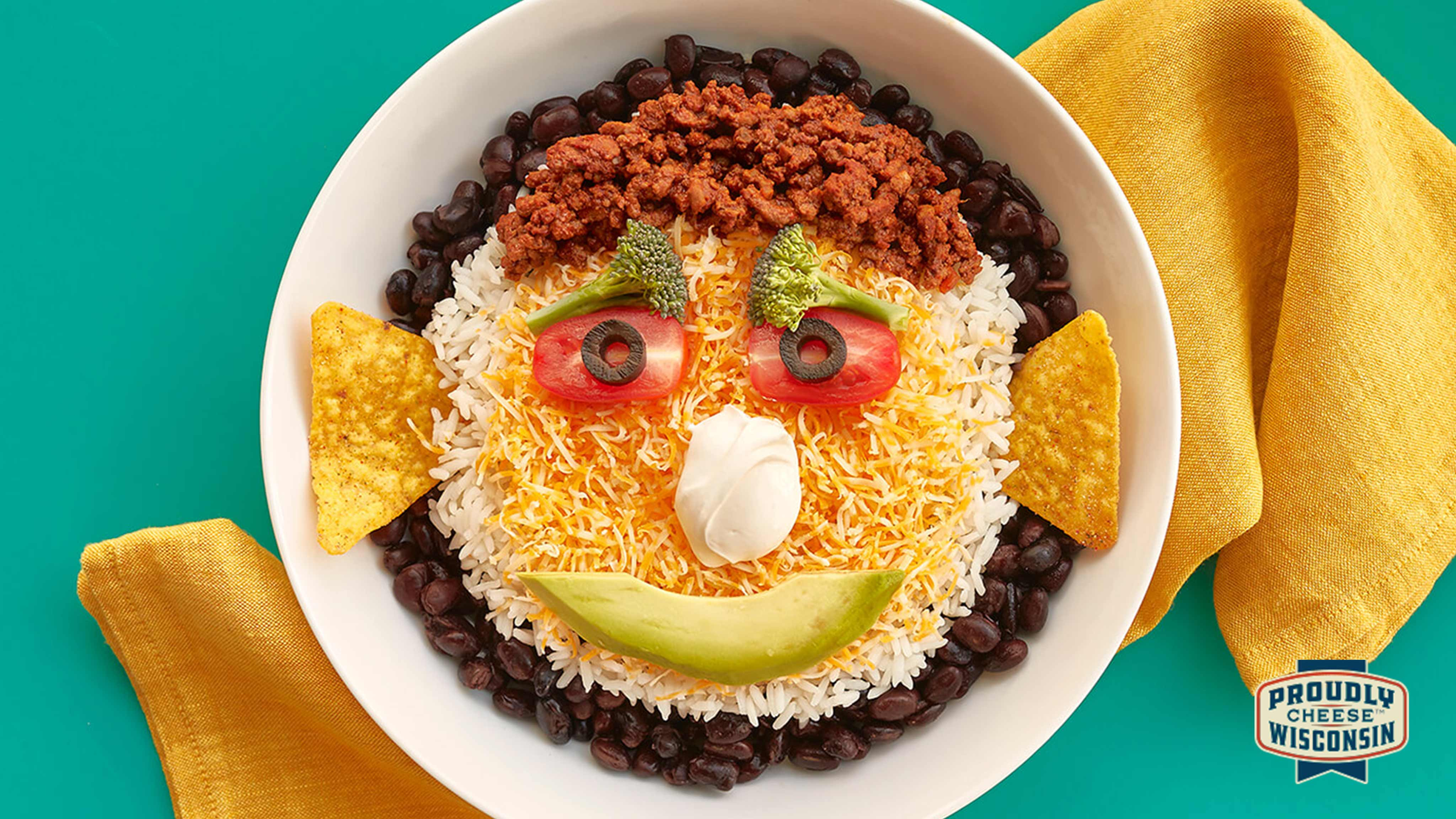 Image for Recipe Funny Face Taco Bowls