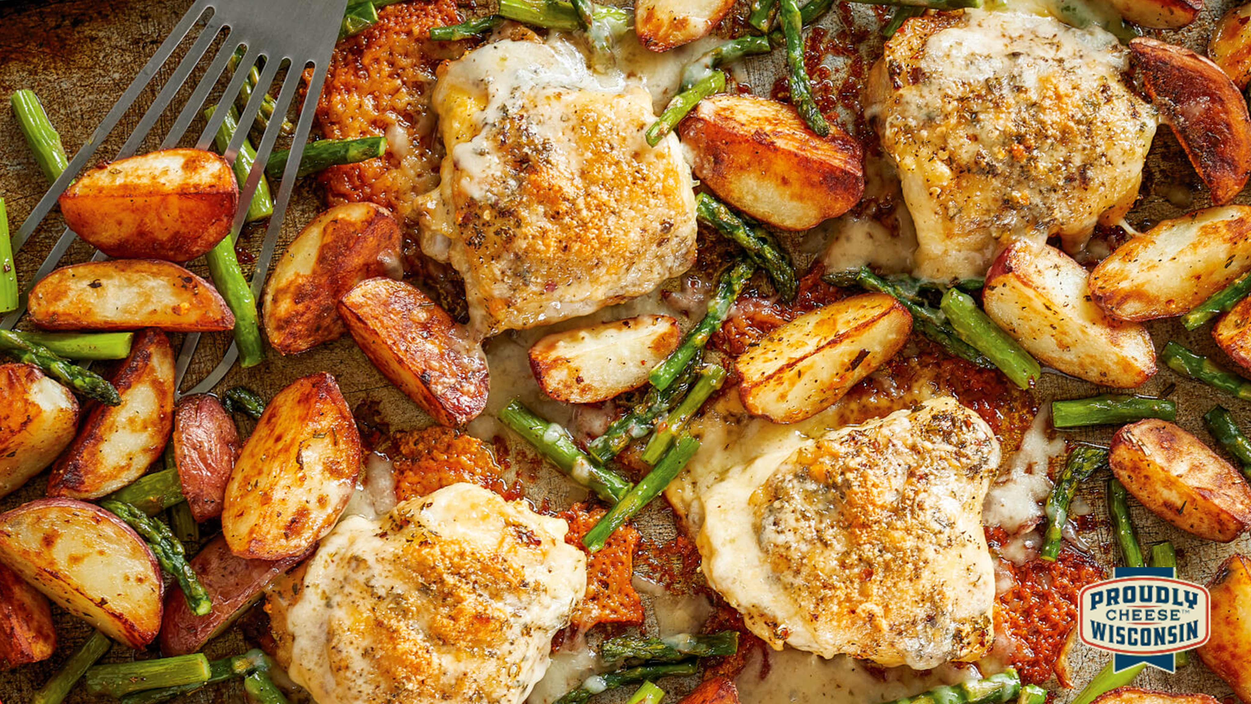 Image for Recipe Sheet-Pan Chicken with Spring Vegetables