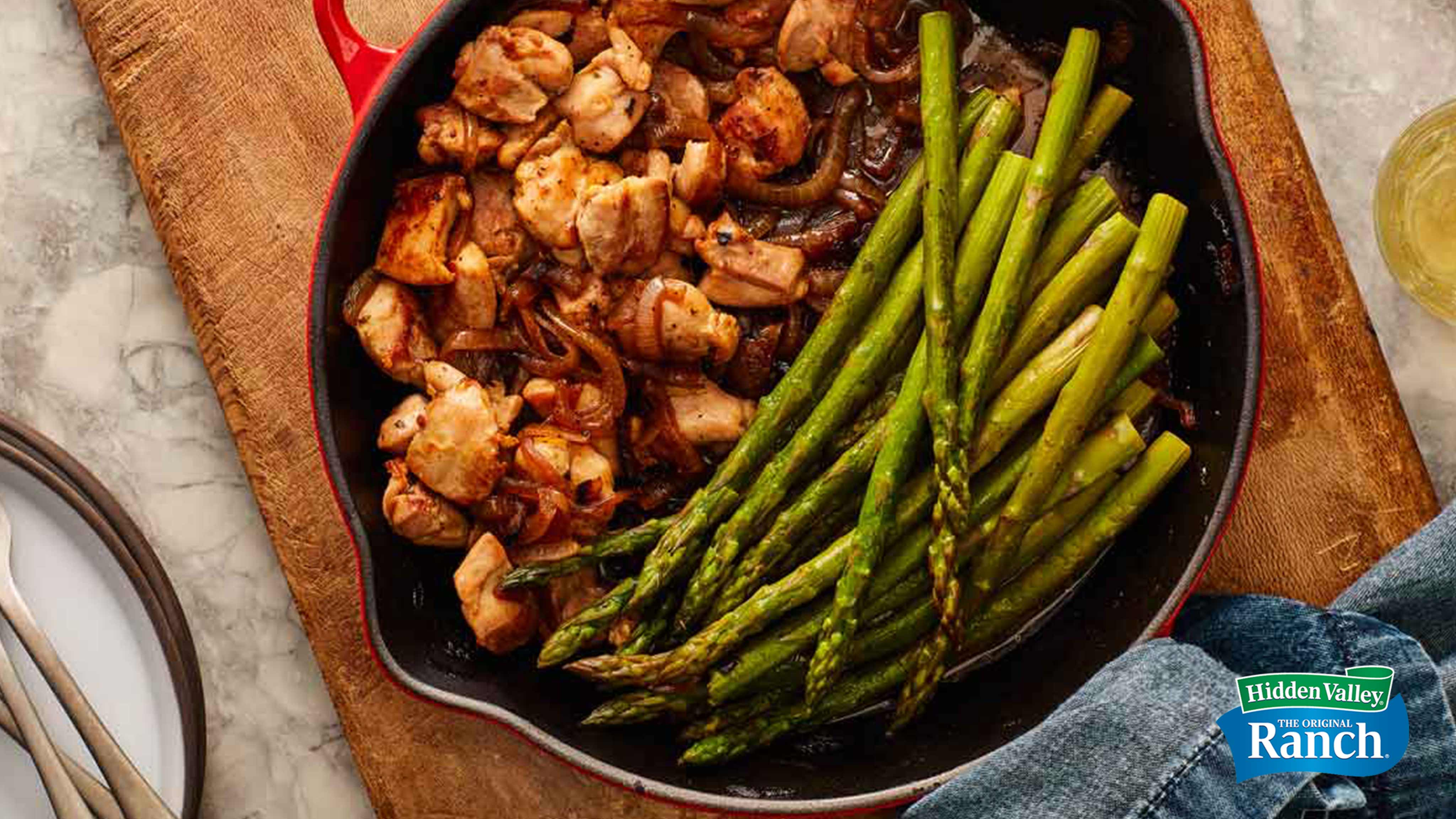 Image for Recipe One Pan Ranch Chicken and Asparagus