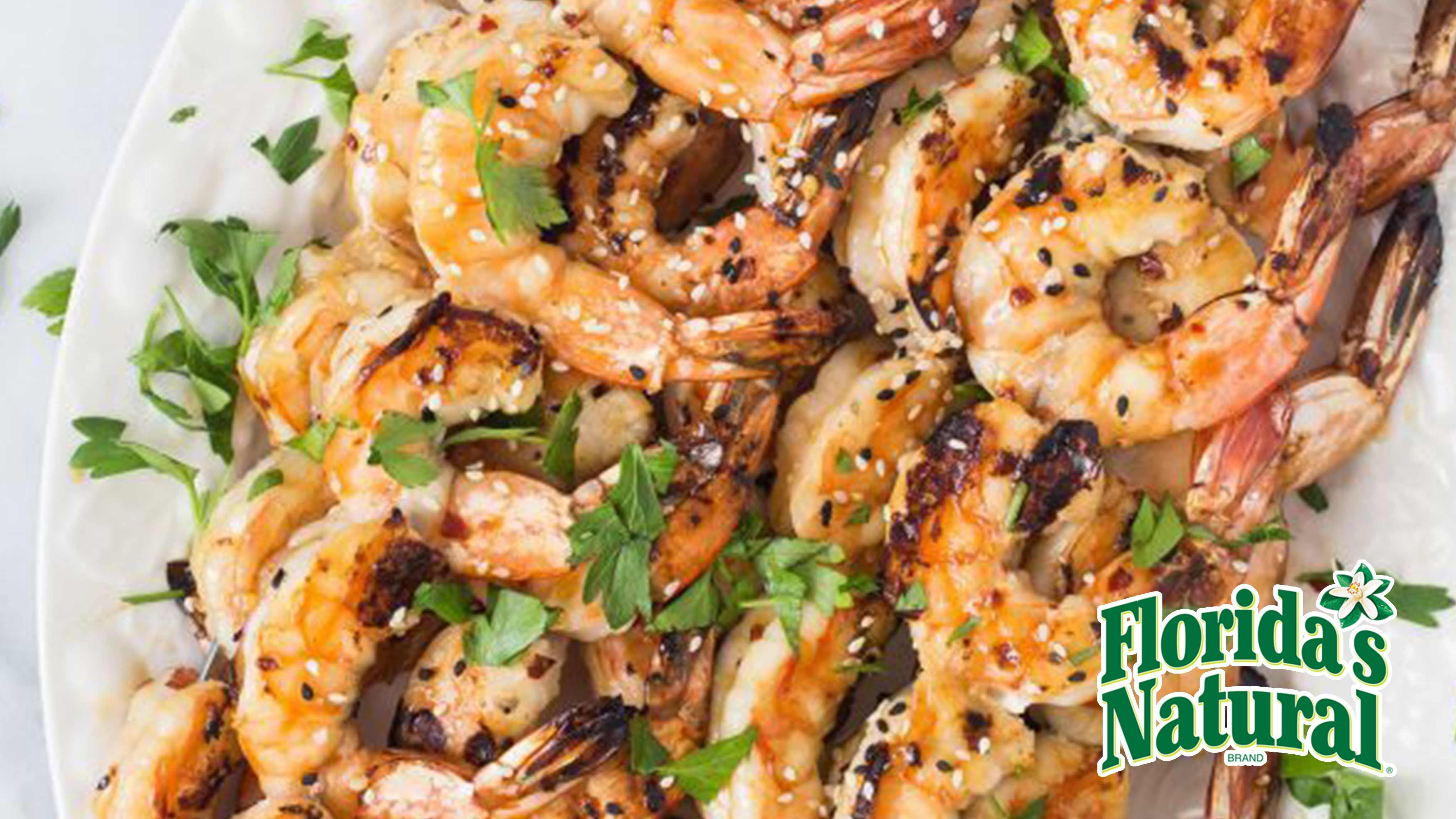 Image for Recipe Grilled Spicy Orange Shrimp