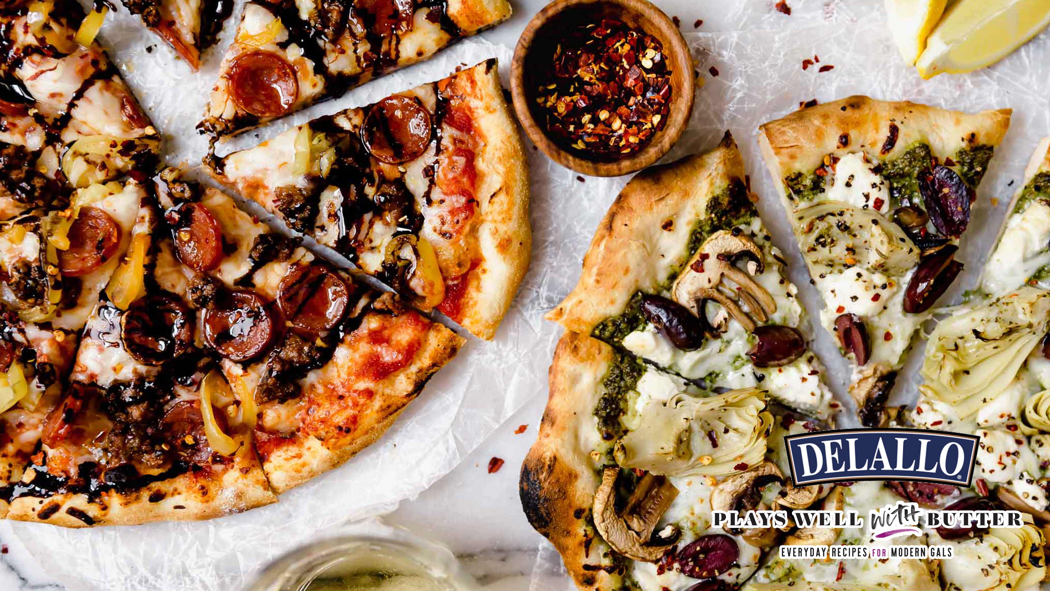 Image for Recipe His and Hers DIY Pizza Night