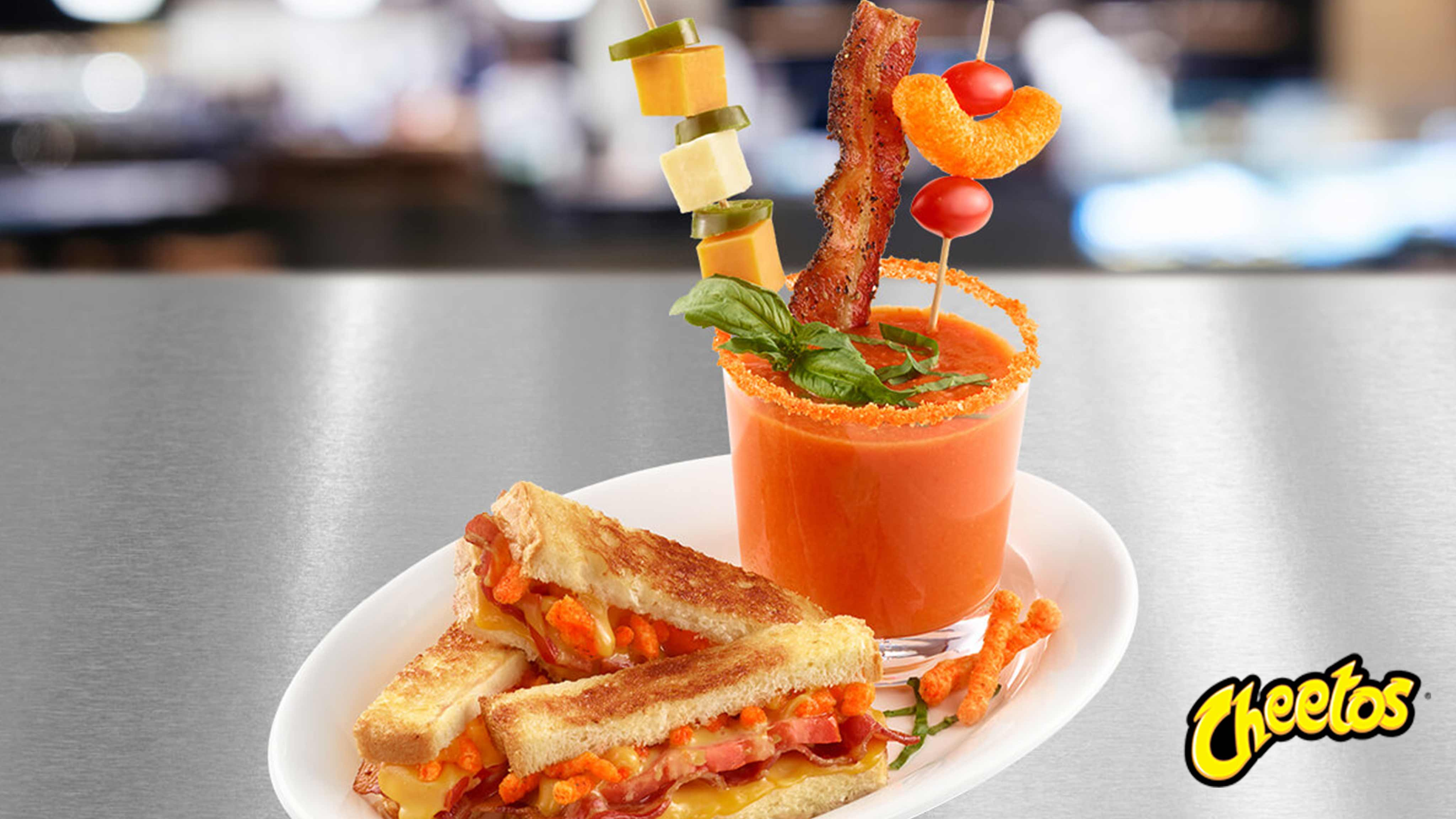 Image for Recipe CHEETOS Grilled Cheese plus Tomato Soup