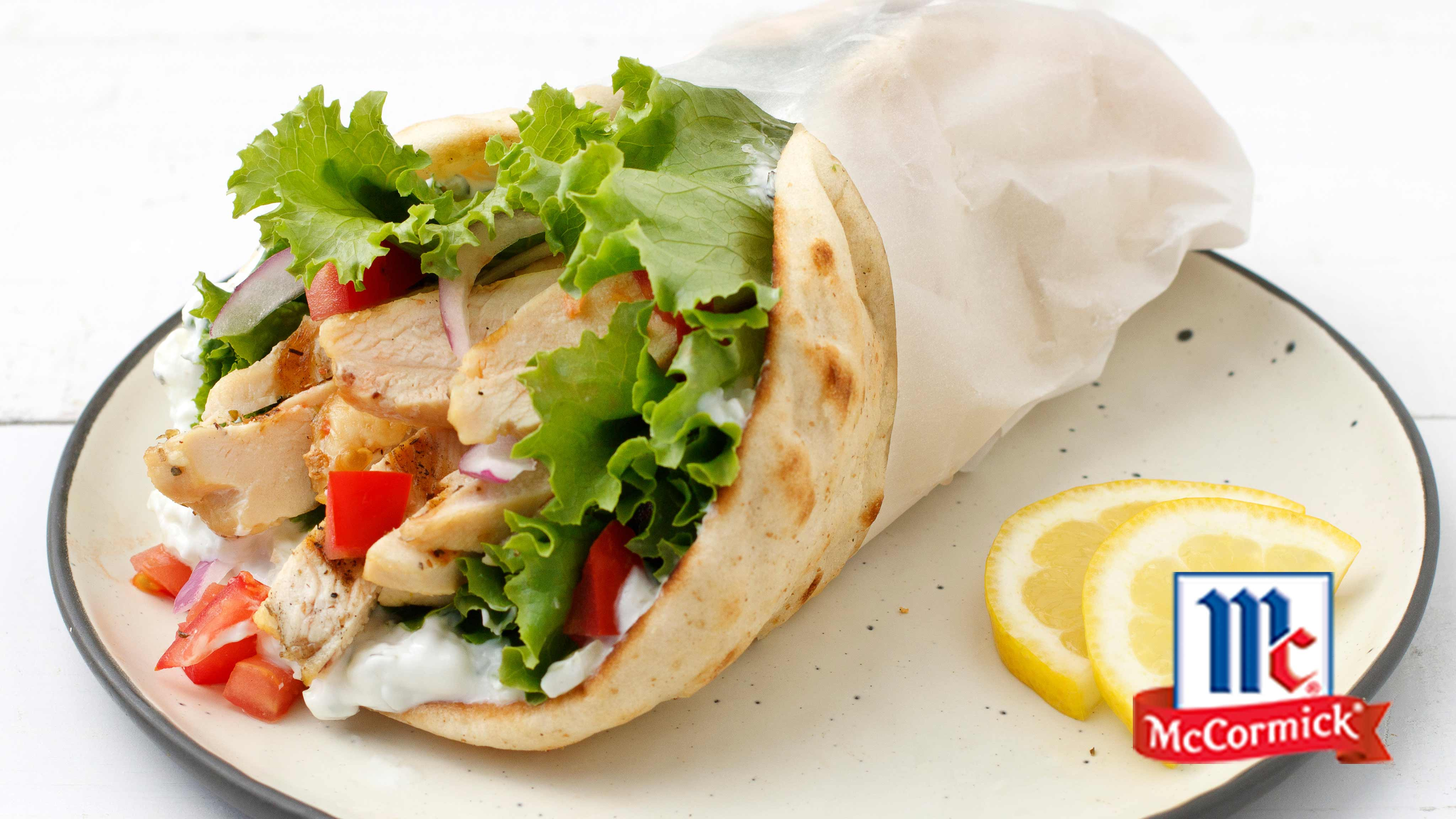 Image for Recipe Grilled Chicken Gyros