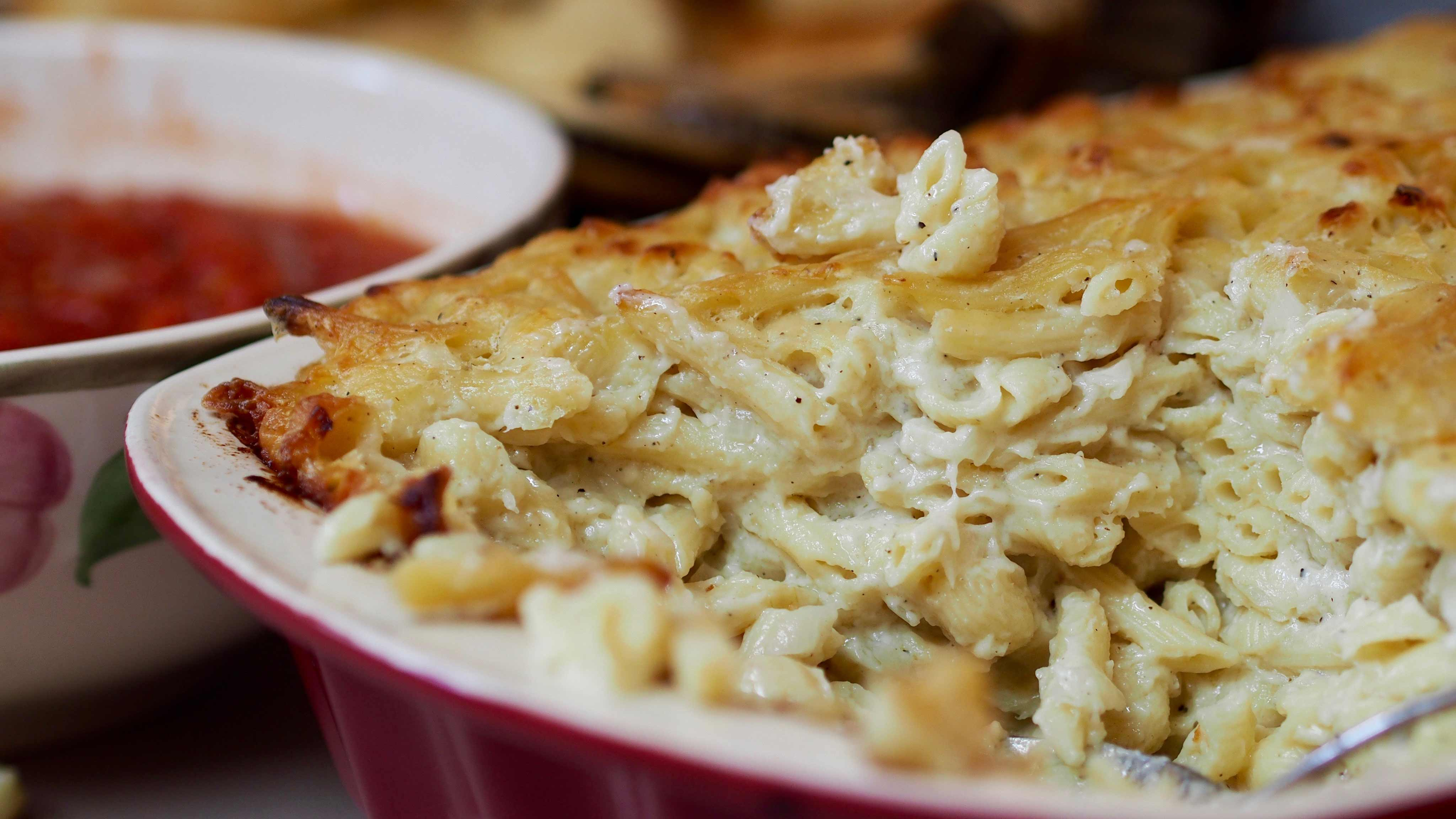 Image for Recipe Baked Macaroni and Cheese with Stewed Tomatoes